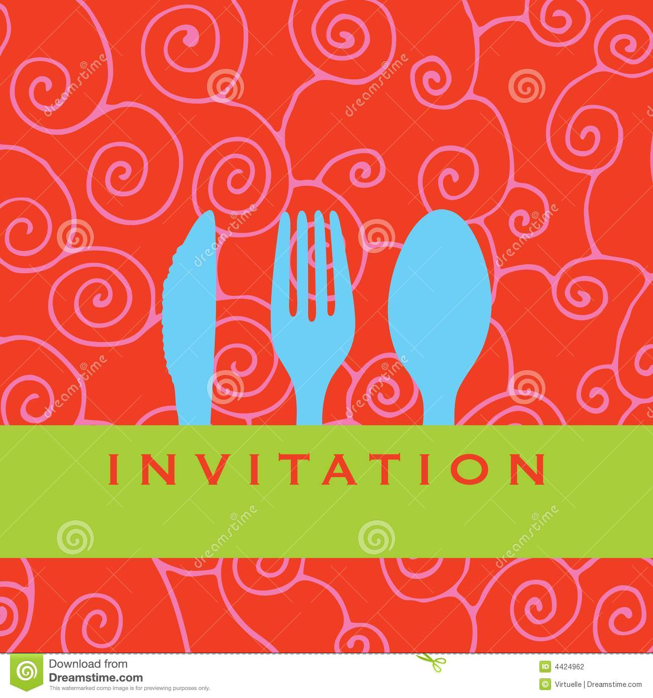 Dinner Invitation Stock Photography - Image: 4424962 Table Knife Clipart