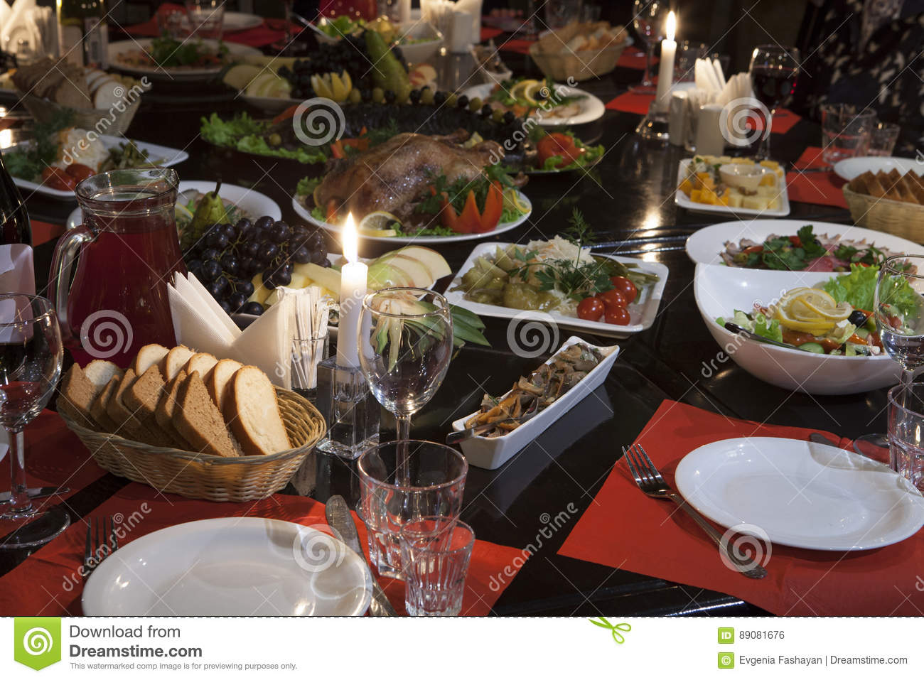 dinner party stock photo image of drinks dish poultry 89081676
