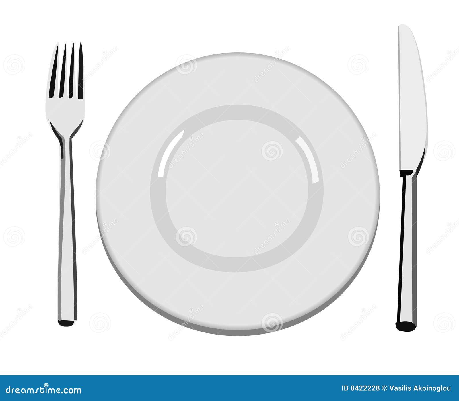 Dinner Plate Stock Vector Illustration Of Tableware