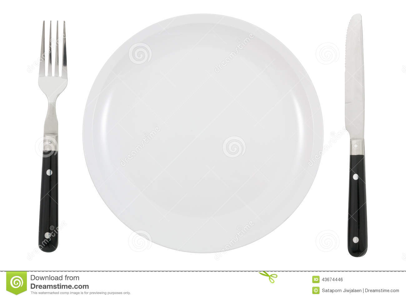 dinner plate knife and fork stock photo image of clean