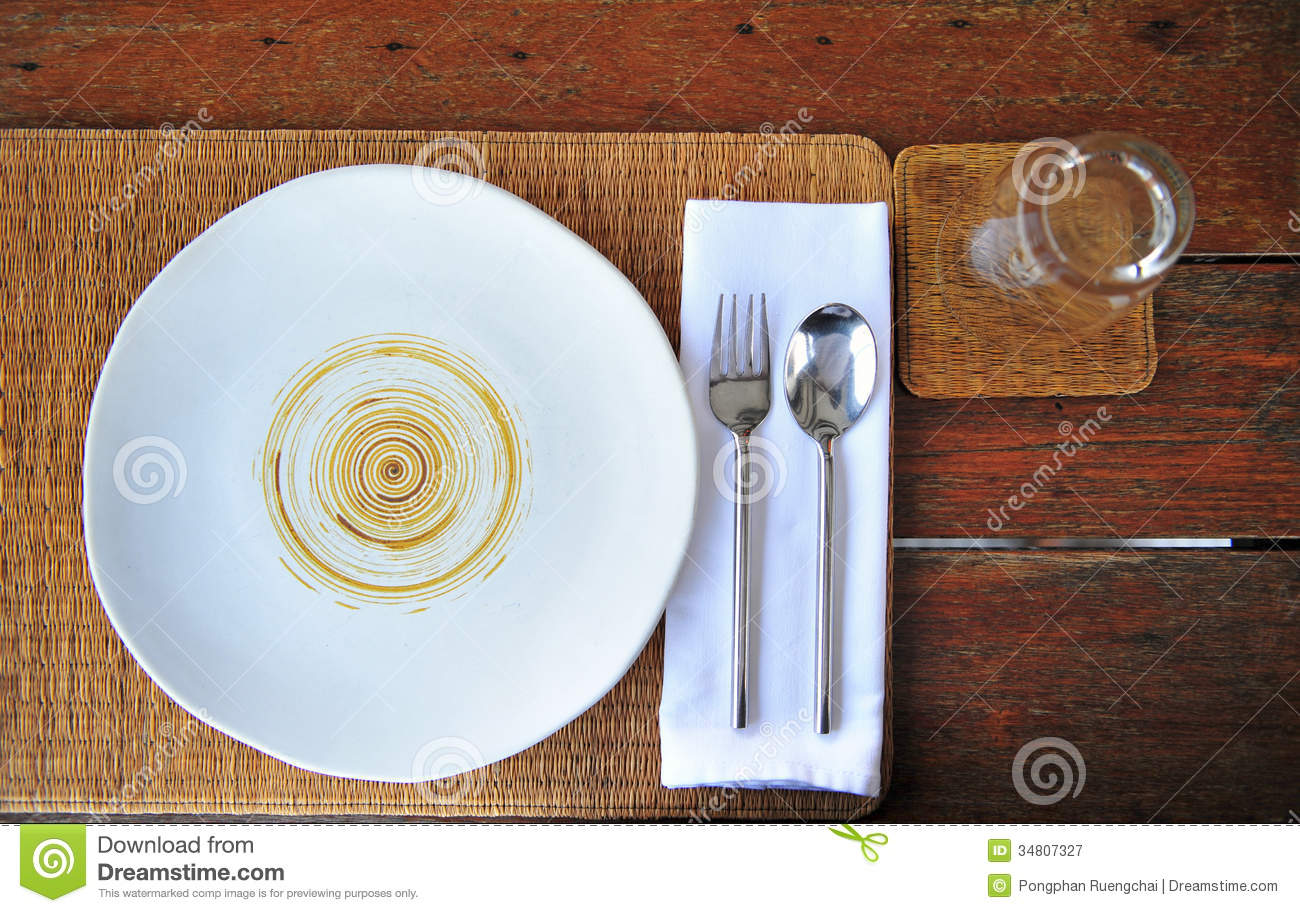 dinner plate setting royalty free stock photography