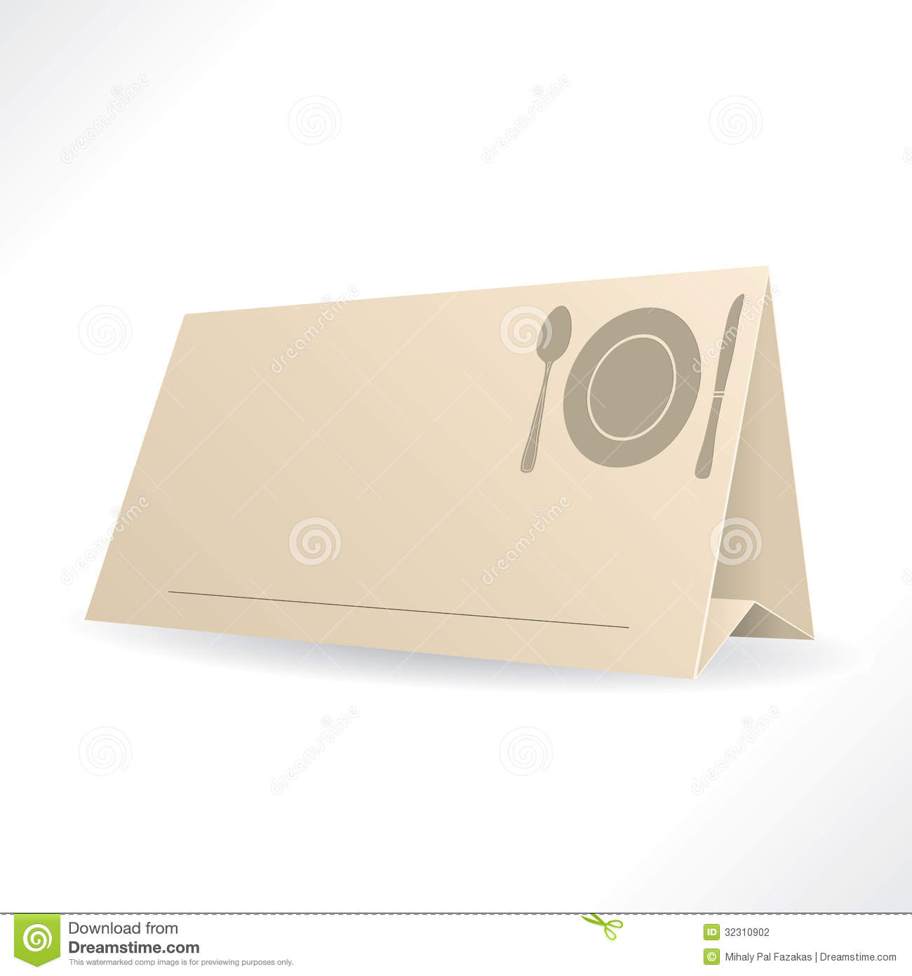 table reservation card template - dinner reservation template stock photography image
