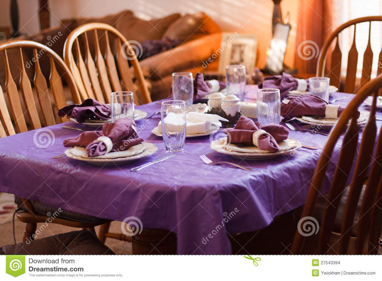 Download Dinner table place setting stock photo. Image of white - 27543394