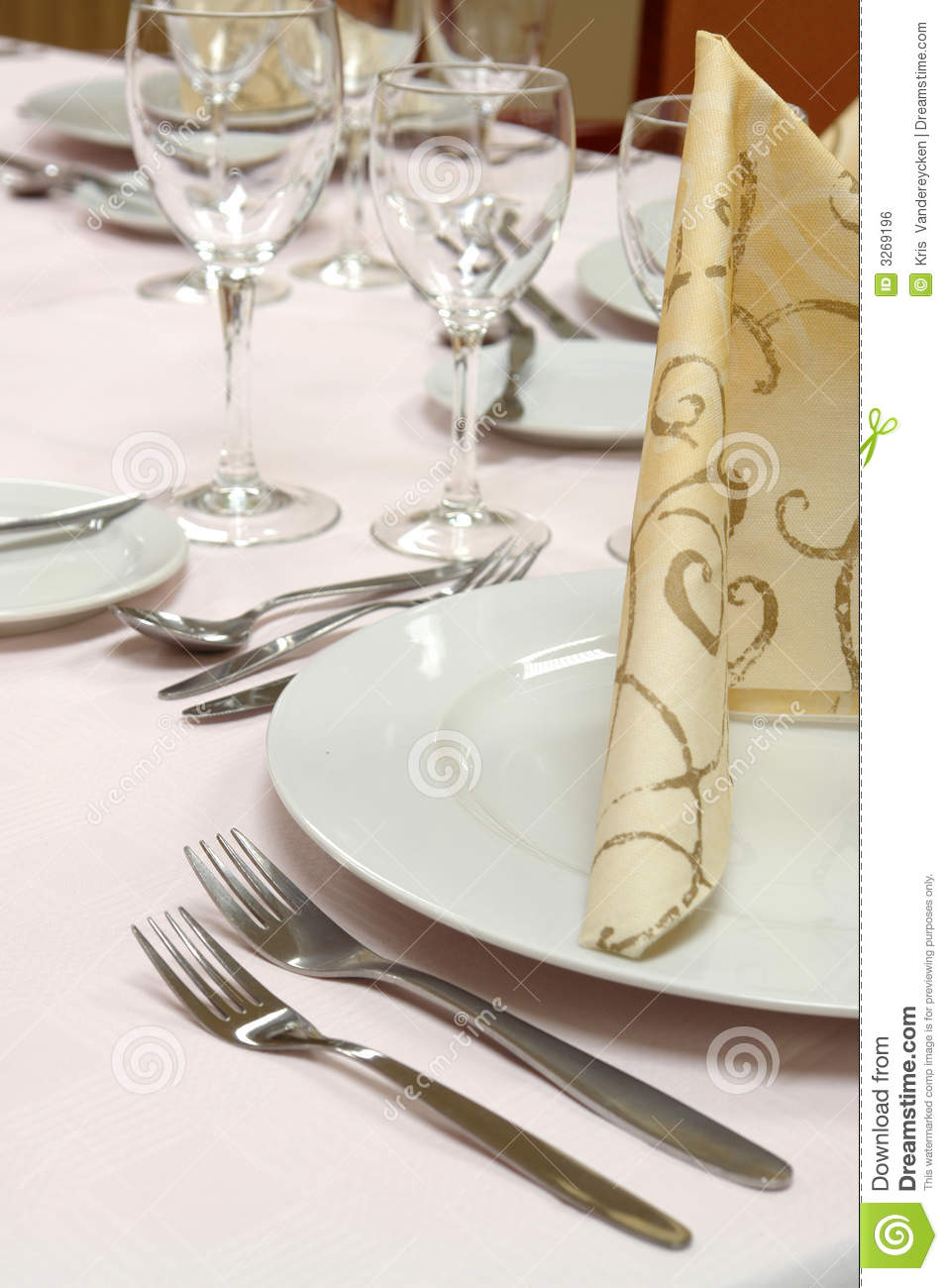 Dinner Table Setting Stock Photo Image Of Plants