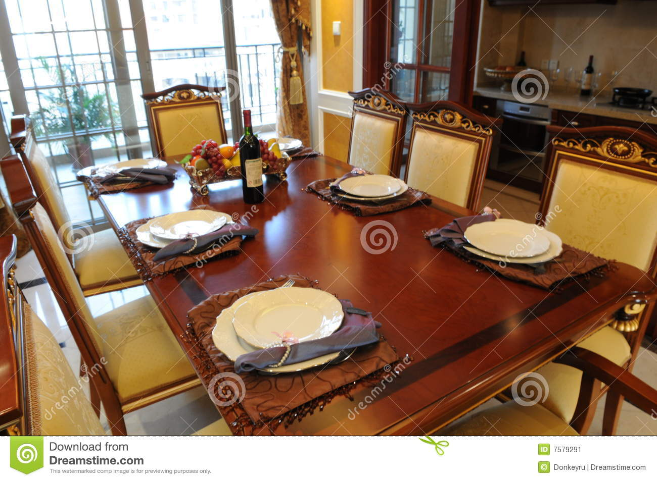 The dinner table setting stock image image 7579291 for Setting a table for dinner