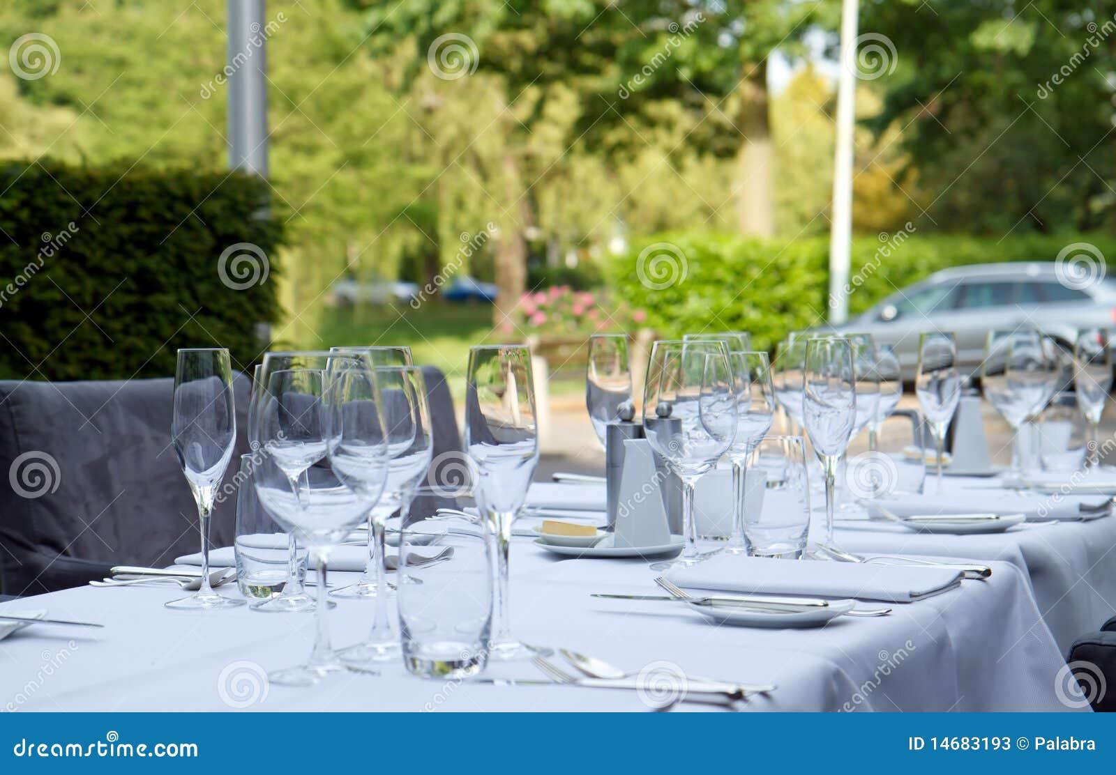 Dinner tables on terrace of star restaurant 3 stock photos for Dinner on the terrace