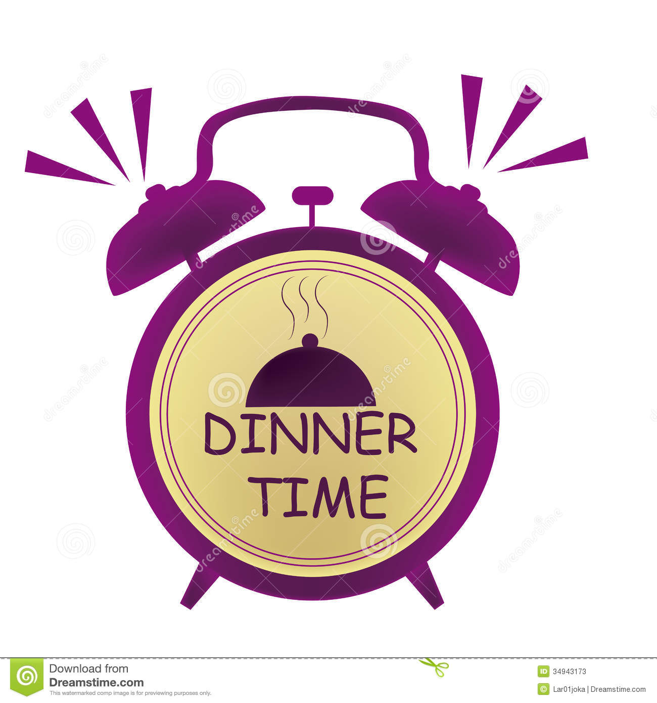Dinner Time Clock Stock Photos - Image: 34943173