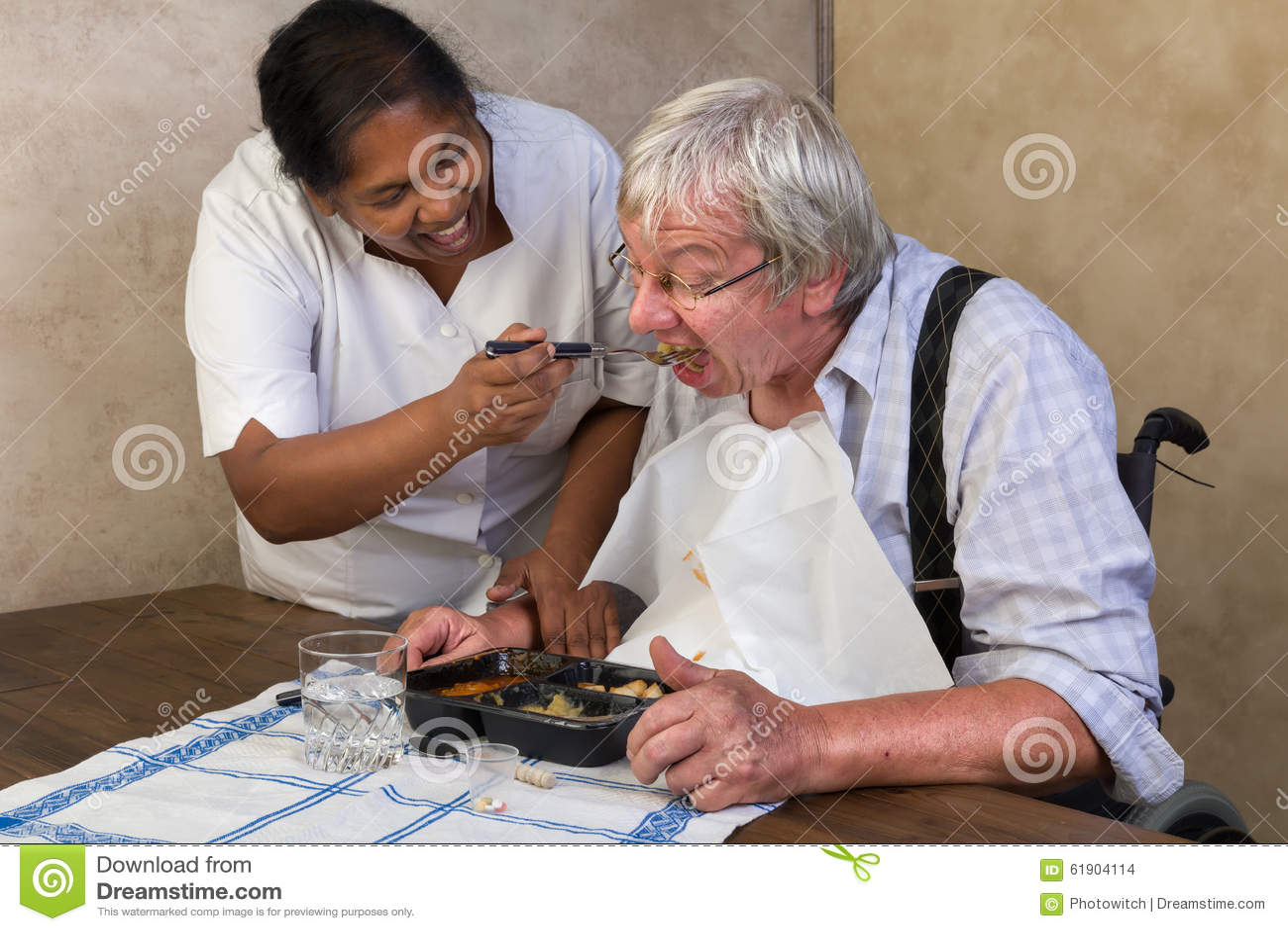 Dinner Time In Nursing Home Stock Photo Image 61904114
