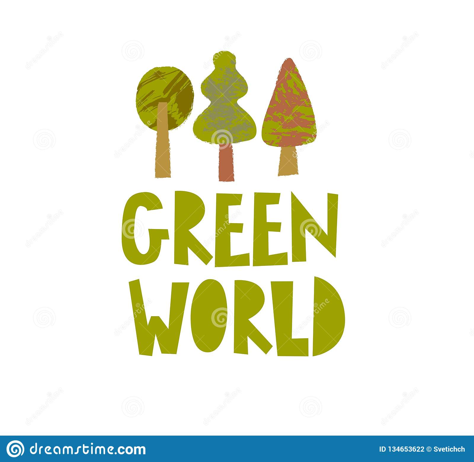 Green World Vector Poster Template Stock Vector ...