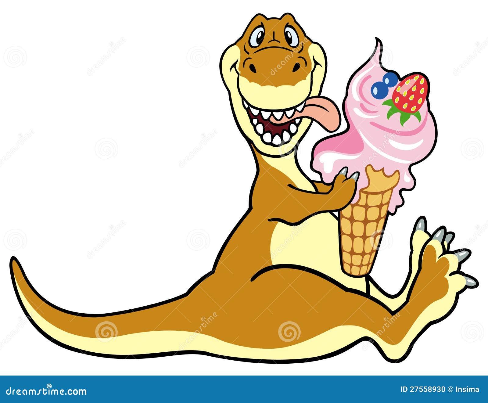 Dino Eating Ice Cream Stock Photo Image 27558930