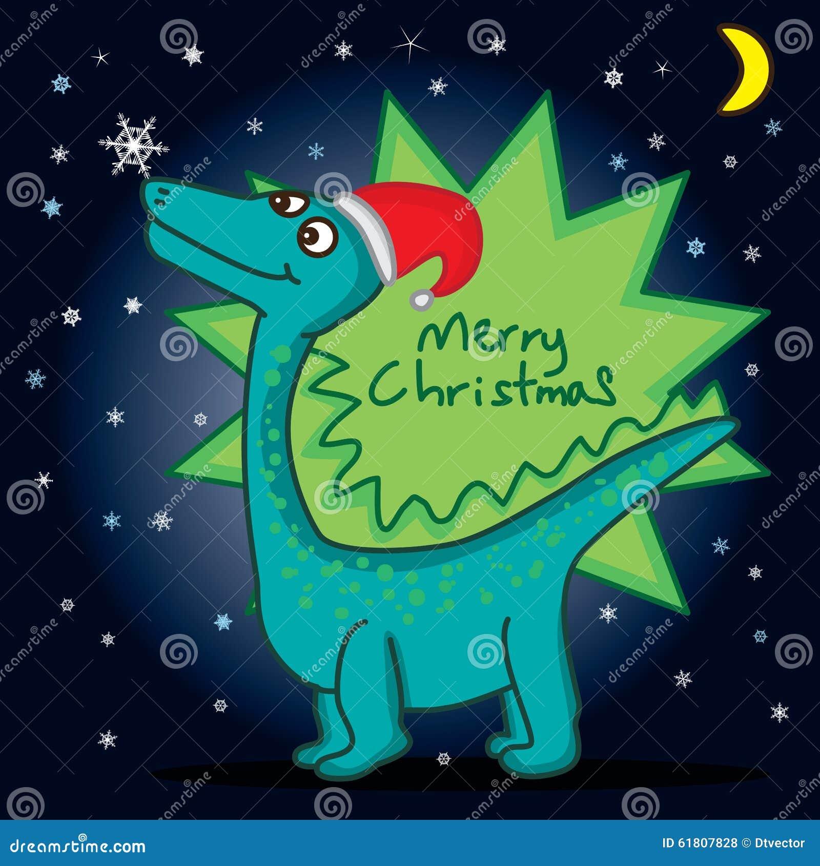 Dino Hello Snowflake Stock Vector - Image: 61807828