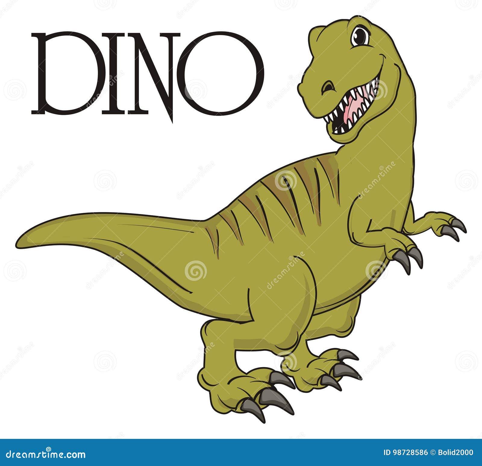 Dino Und Sein Name Stock Abbildung Illustration Von Greifer 98728586