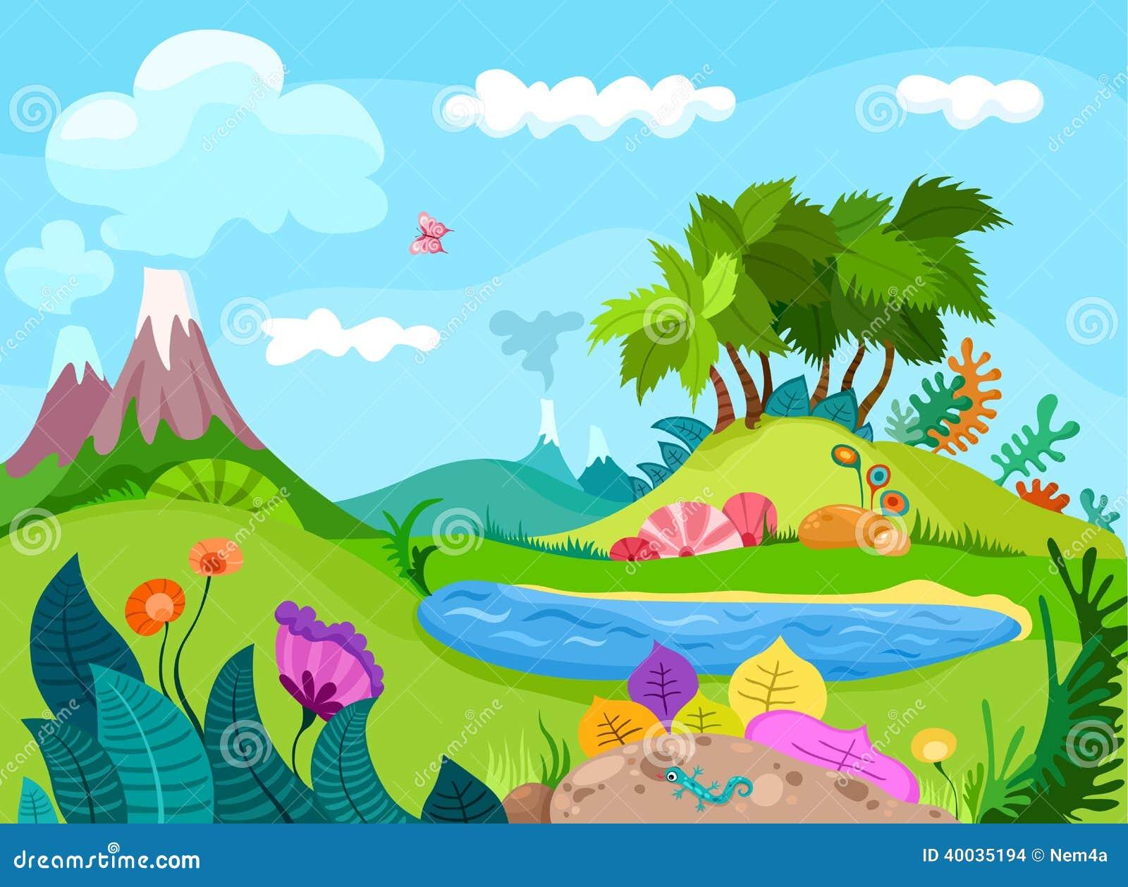 Dinos Landscape Stock Vector Illustration Of Body Huge