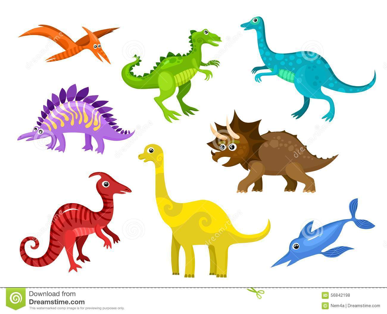 Dinos Stock Vector Image 56842198