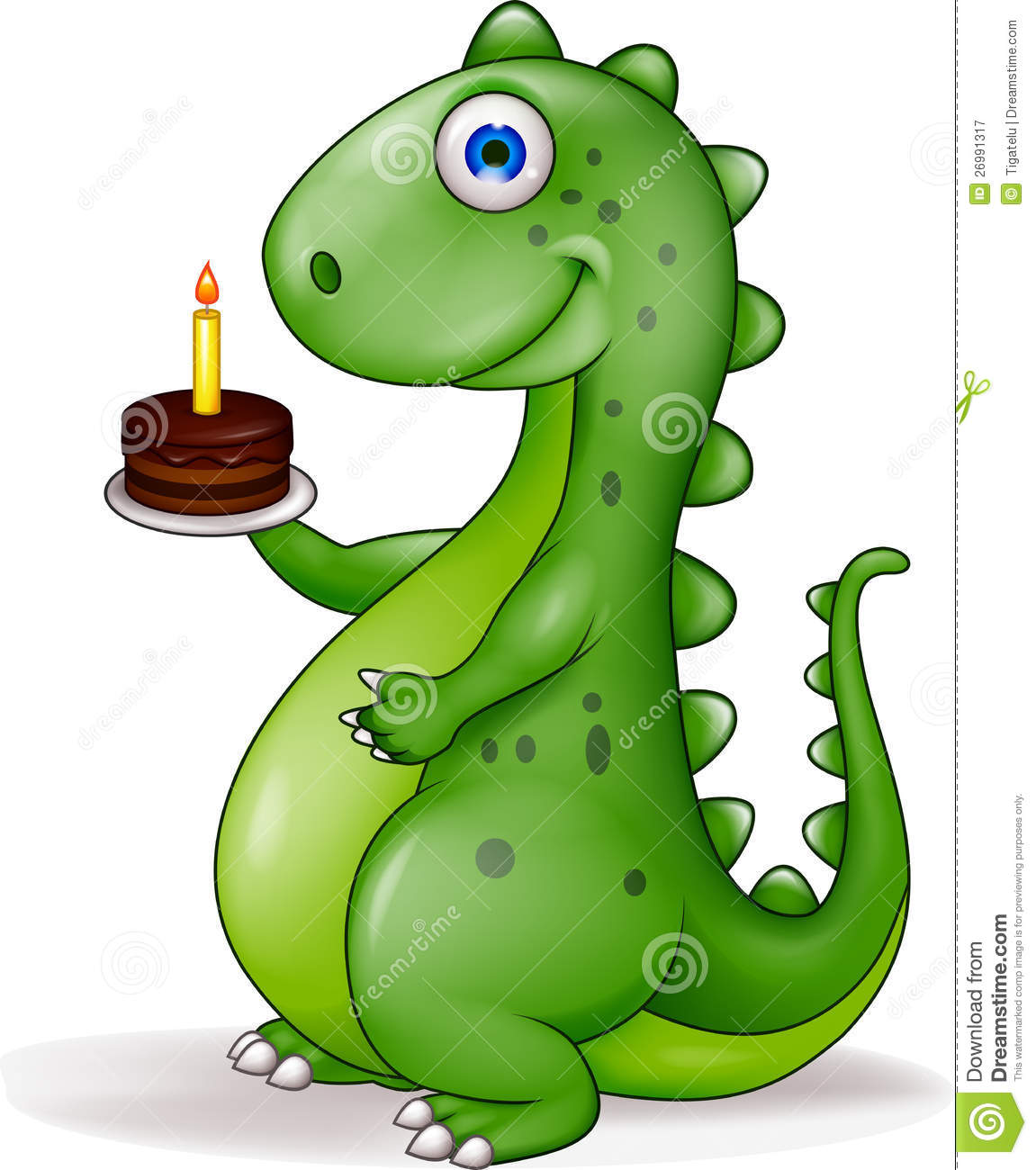 Remarkable Dinosaur With Birthday Cake Stock Vector Illustration Of Personalised Birthday Cards Sponlily Jamesorg