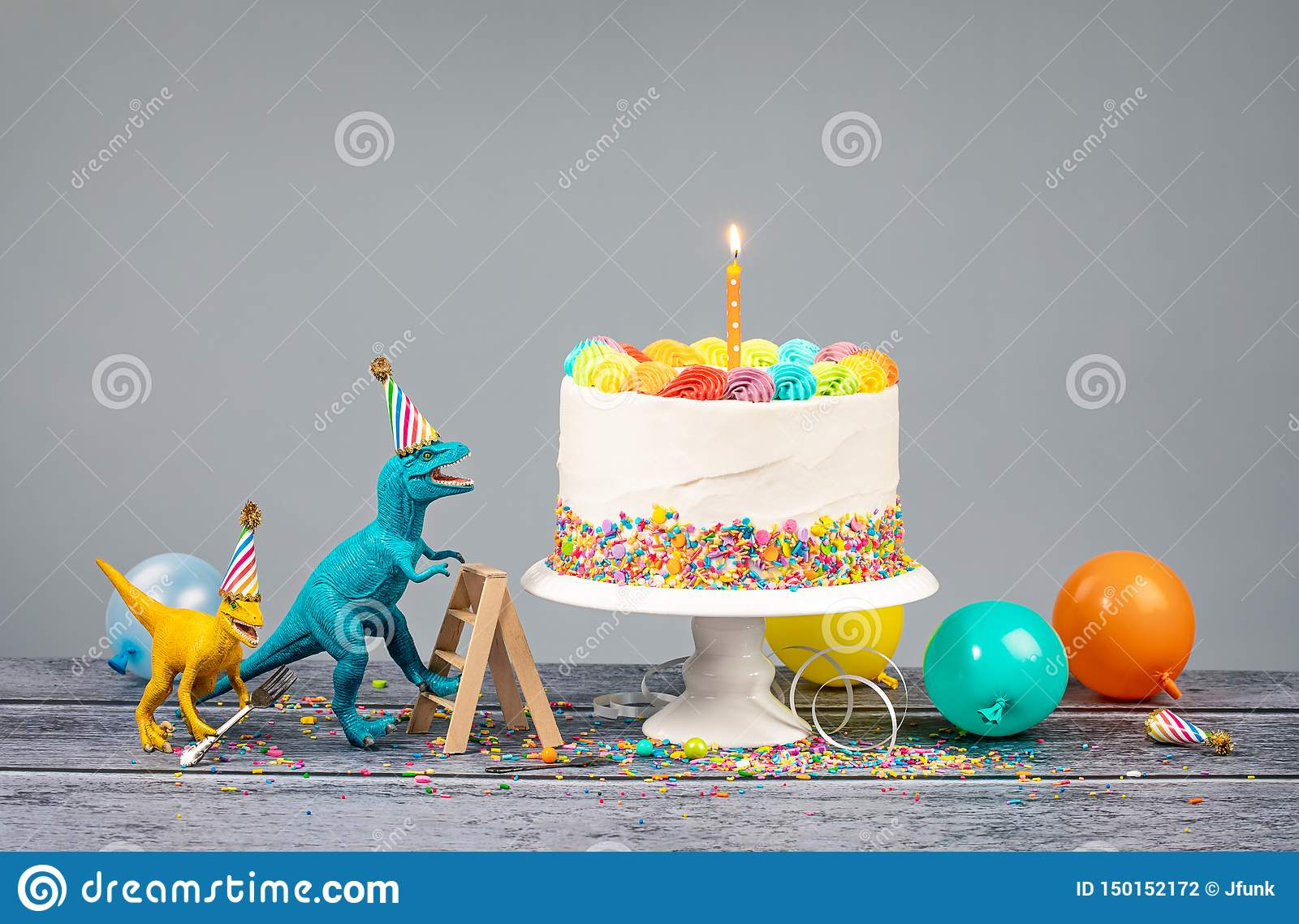 Miraculous Dinosaur Themed Birthday Party With Cake Stock Photo Image Of Funny Birthday Cards Online Alyptdamsfinfo