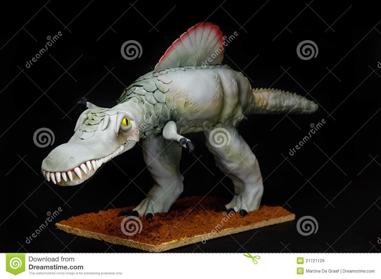 dinosaur cake royalty free stock images