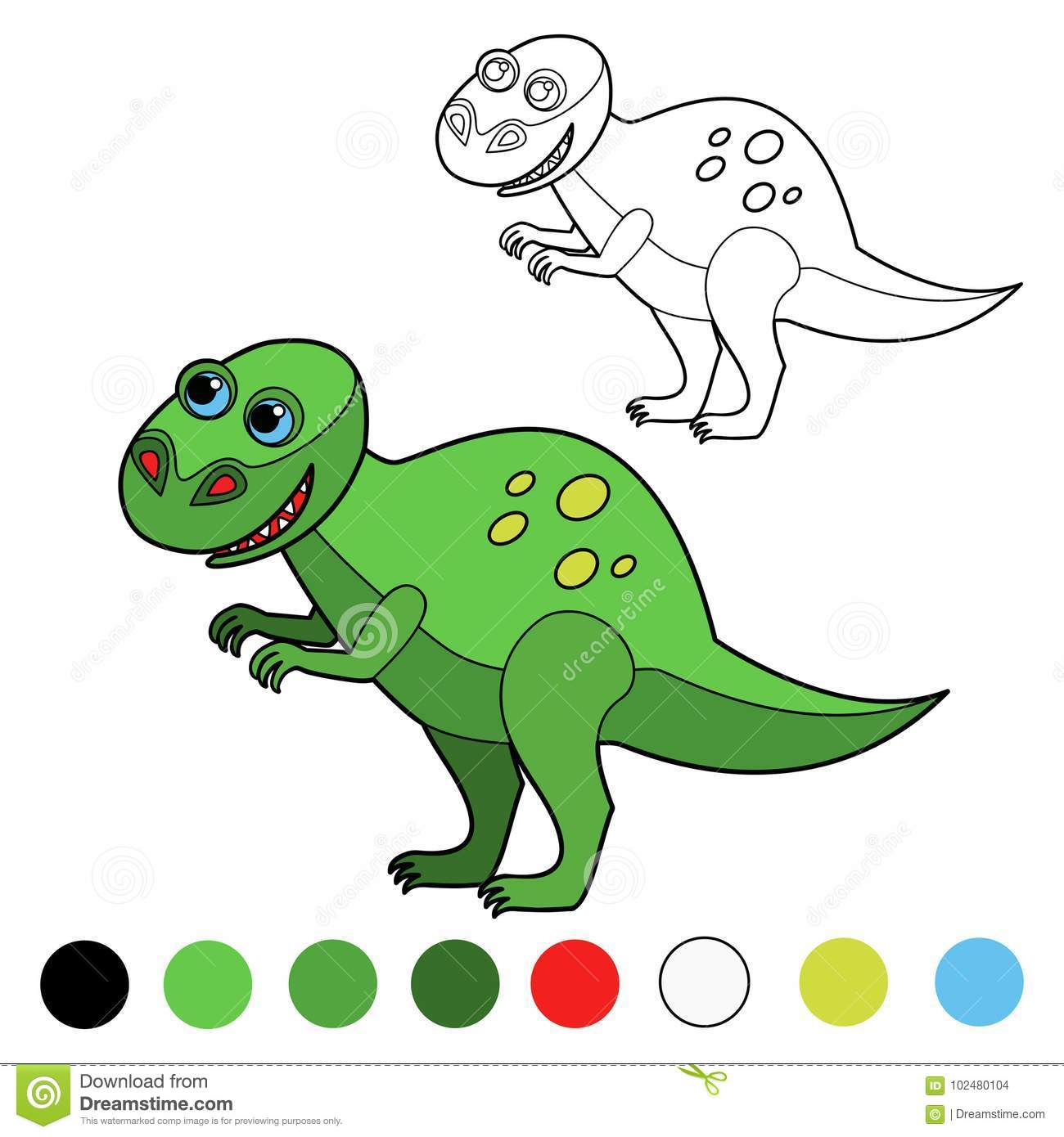 Dinosaur coloring pages stock illustration. Illustration of ...