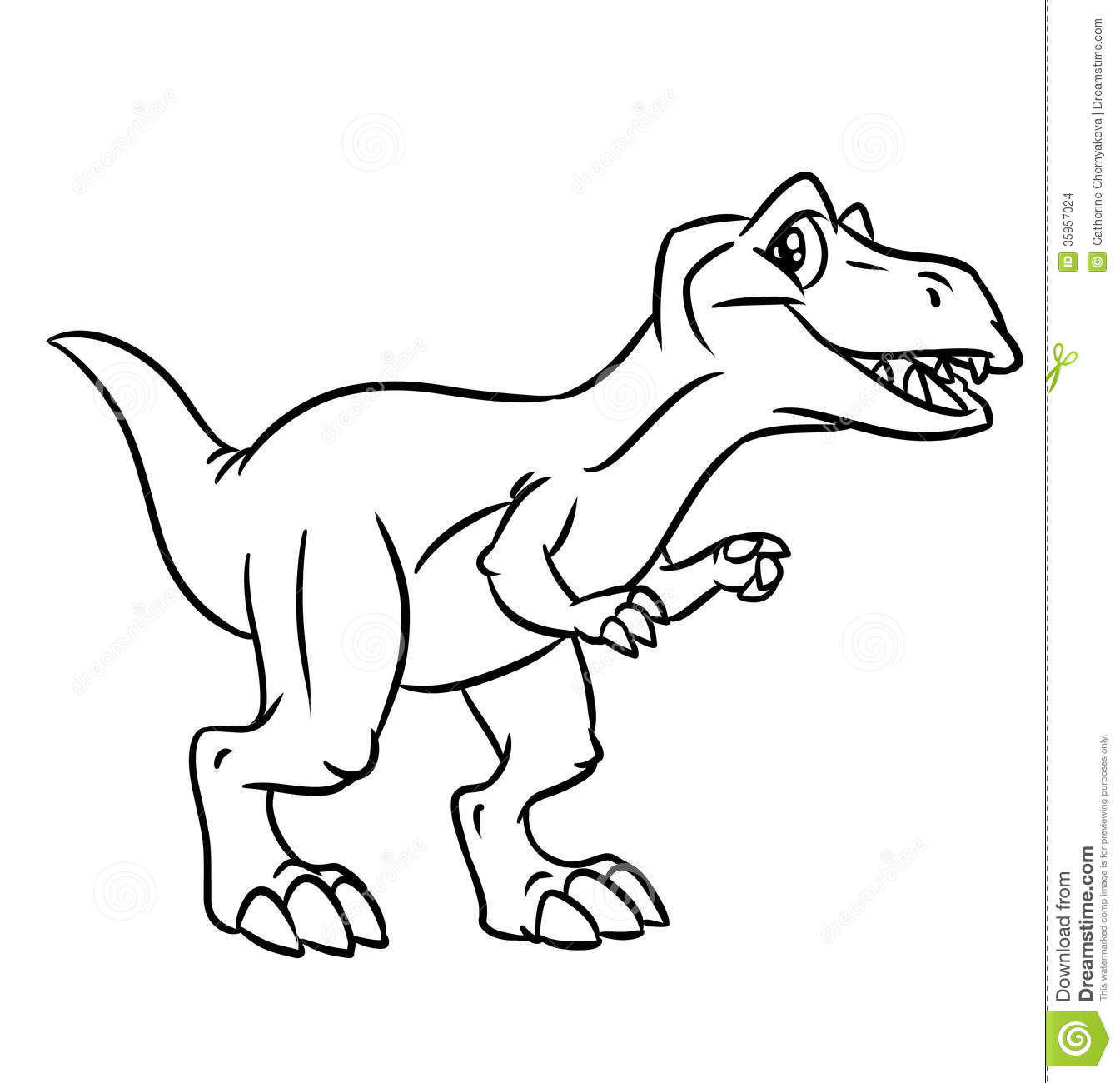 dinosaur coloring pages stock images image 35957024
