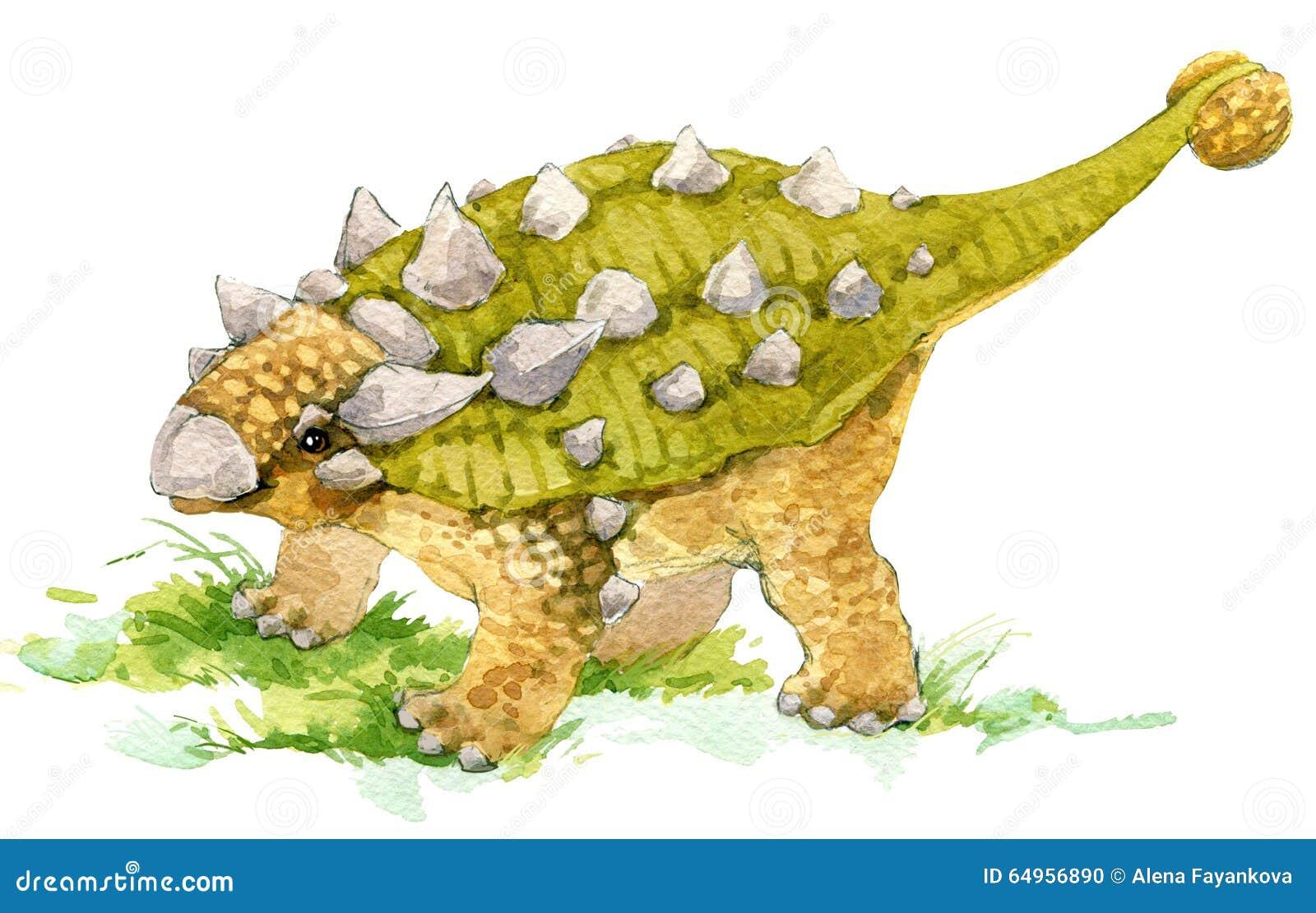 Dinosaur Desenho da aquarela do dinossauro Ilustração do dinossauro