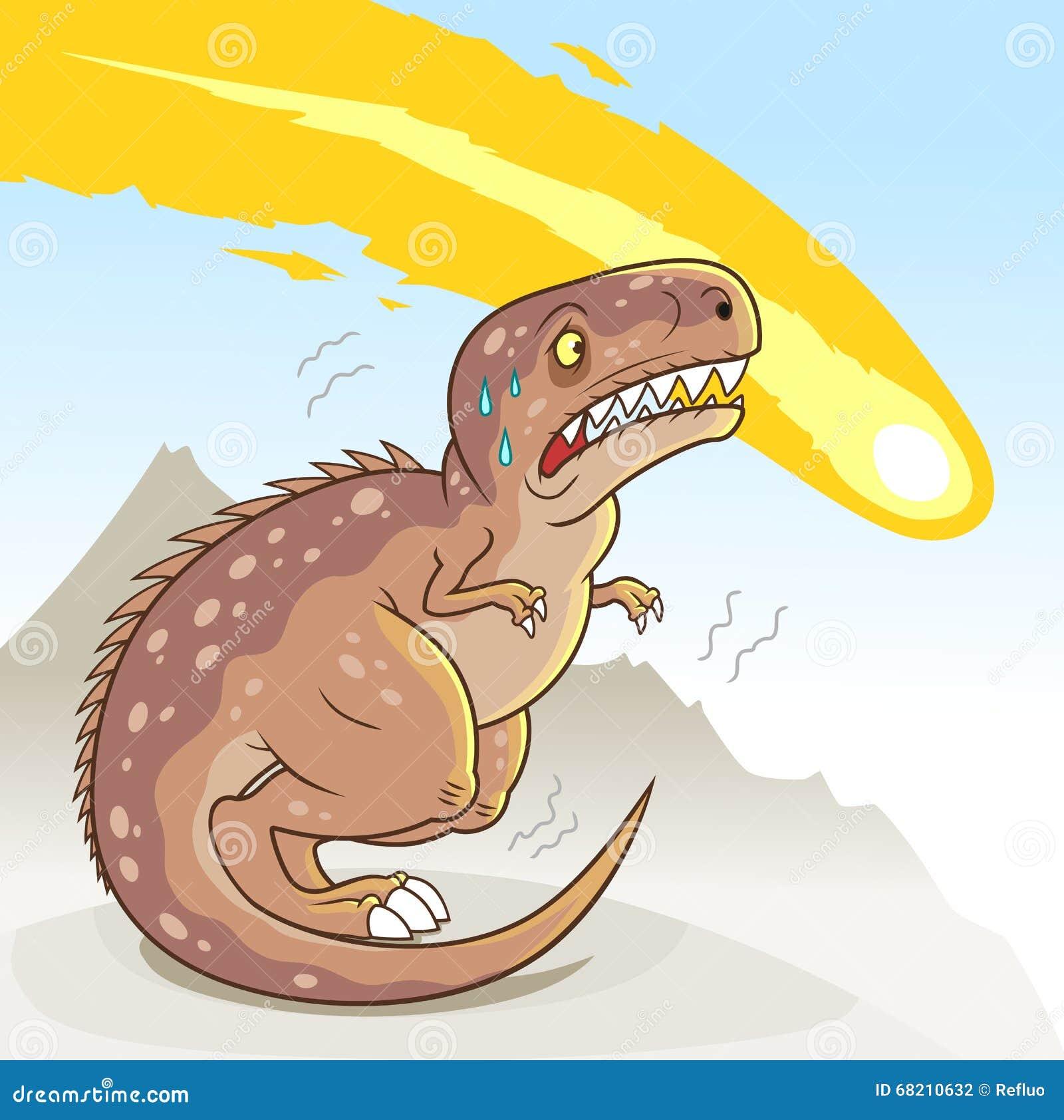 Dinosaur extinction stock vector. Illustration of cartoon ...