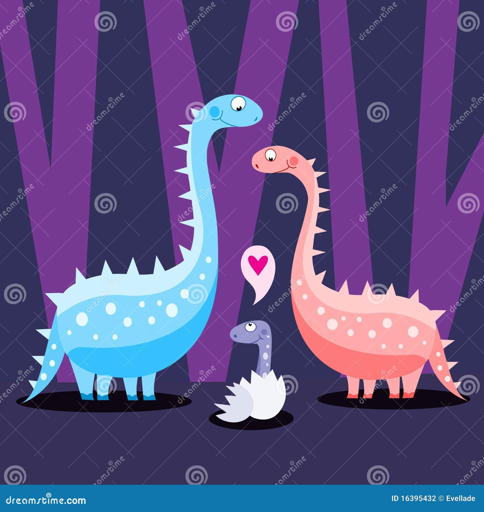 dinosaur family stock vector  image of male  newborn