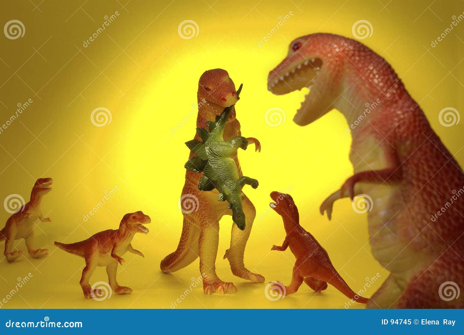 Dinosaur family dinner royalty free stock photo image 94745 for T rex family