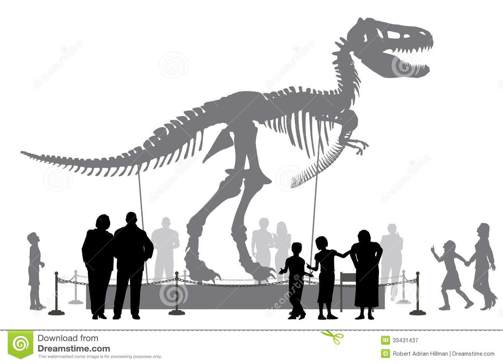 of people looking at a Tyrannosaurus rex skeleton in a museumTyrannosaurus Skeleton In Museum