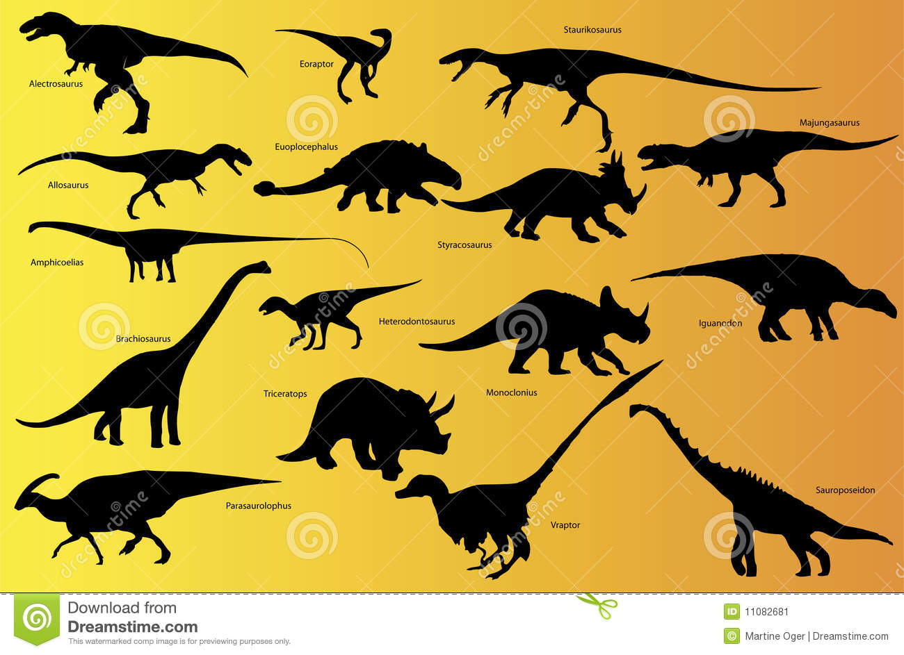 Dinosaur With Name Stock Vector Illustration Of Monster 11082681 Dinosaur names with pictures, a complete online reference. dreamstime com