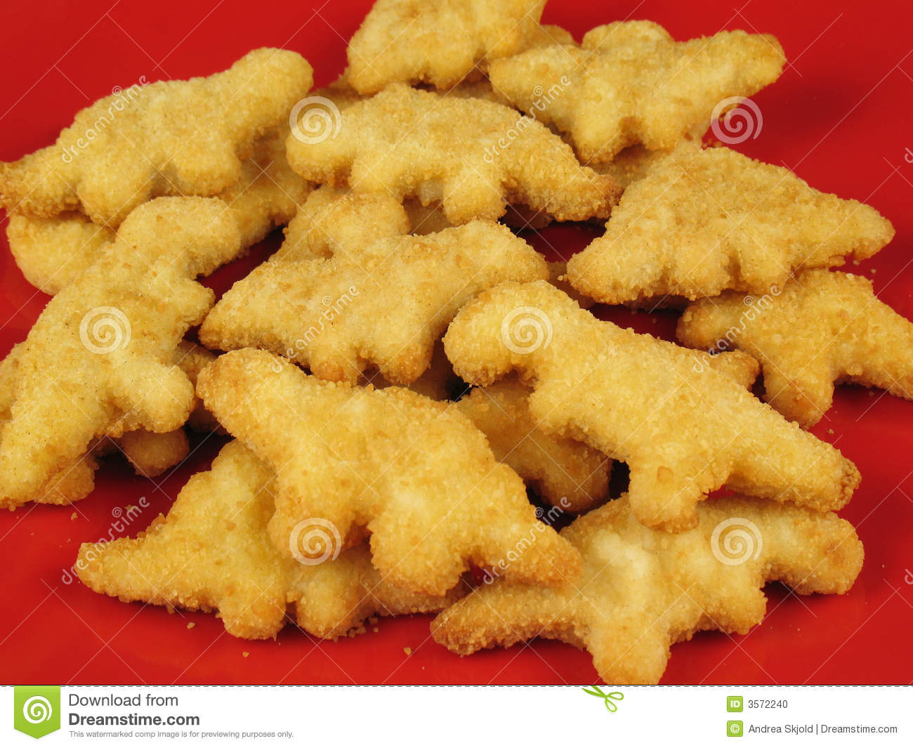 Unhealthy Food Plate Dinosaur Nuggets 3 sto...