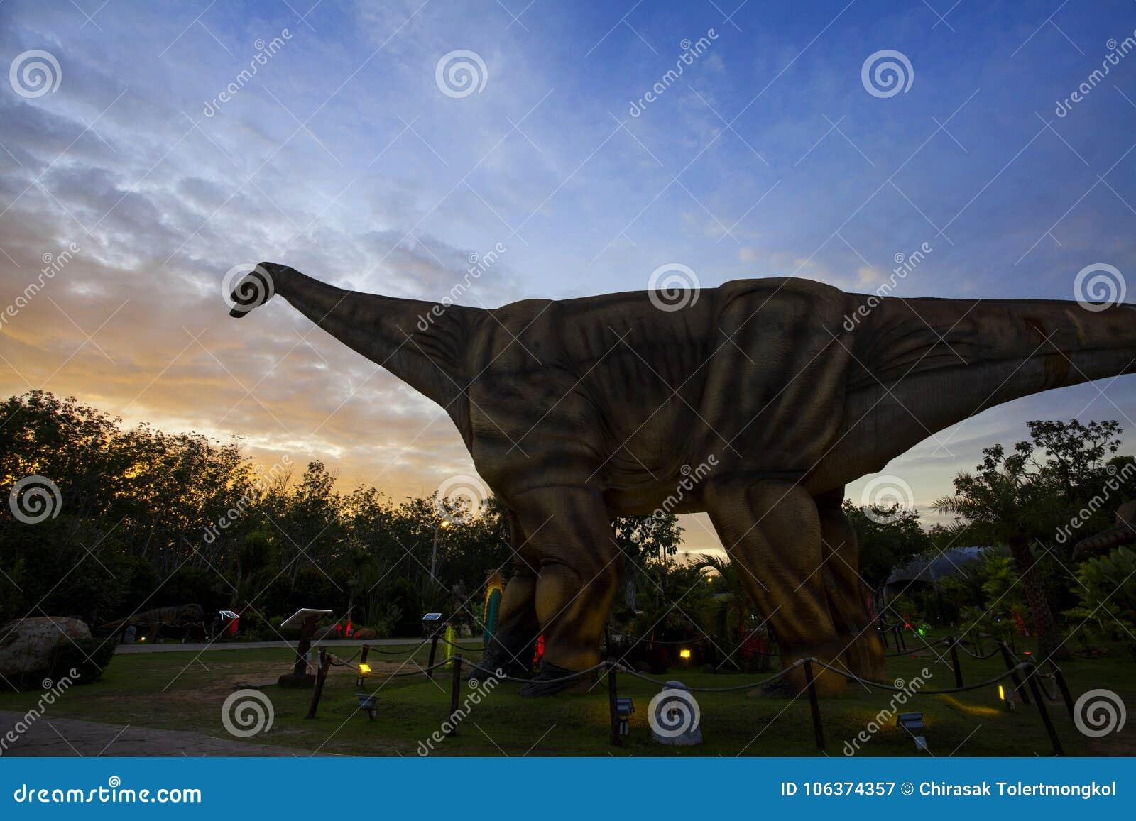 Dinosaur Park in Thailand stock image  Image of dinosaur - 106374357