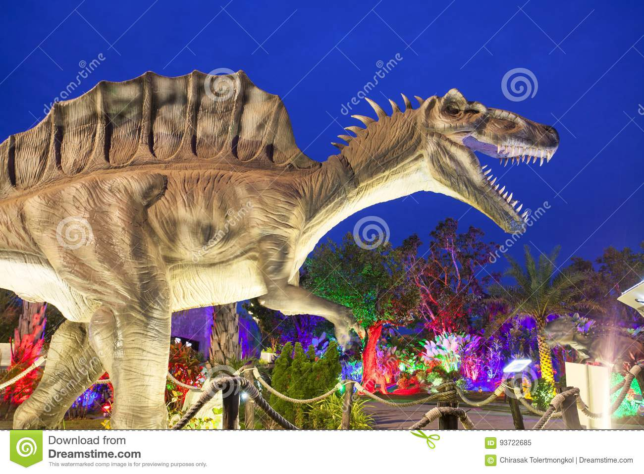 Dinosaur Park in Thailand  editorial image  Image of colored - 93722685