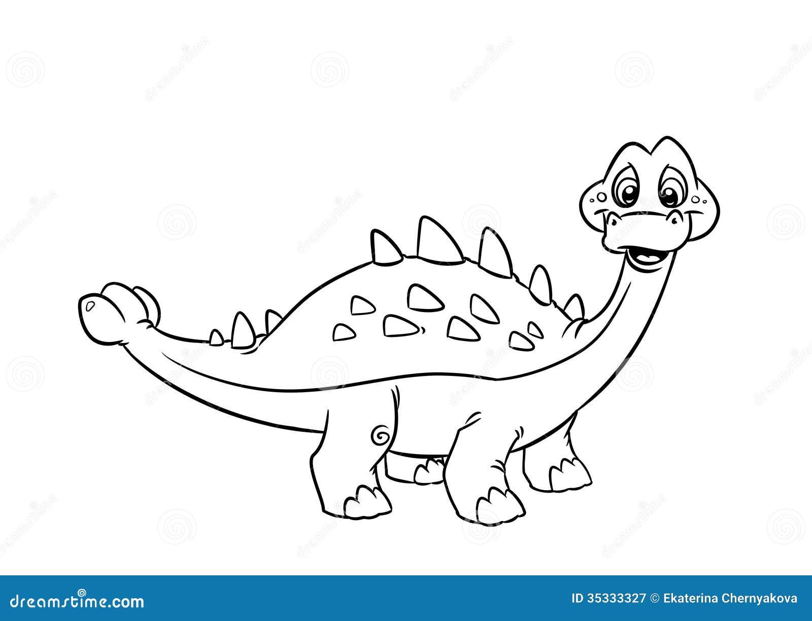 dinosaur pinacosaurus coloring pages royalty free stock