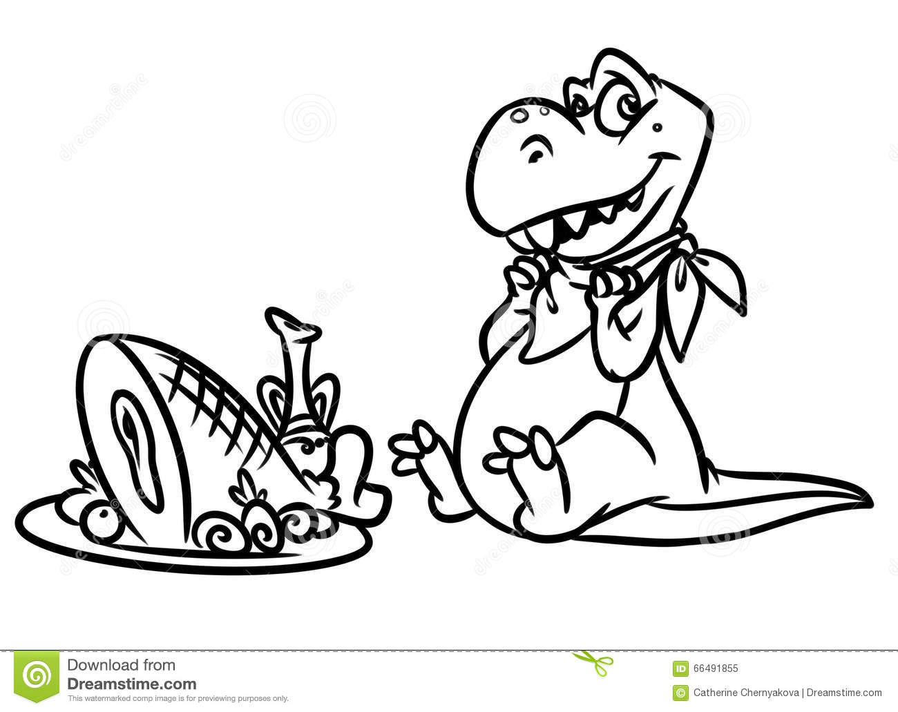 Clip Art Breakfast Coloring Page dinosaur predator breakfast jurassic period coloring pages stock pages