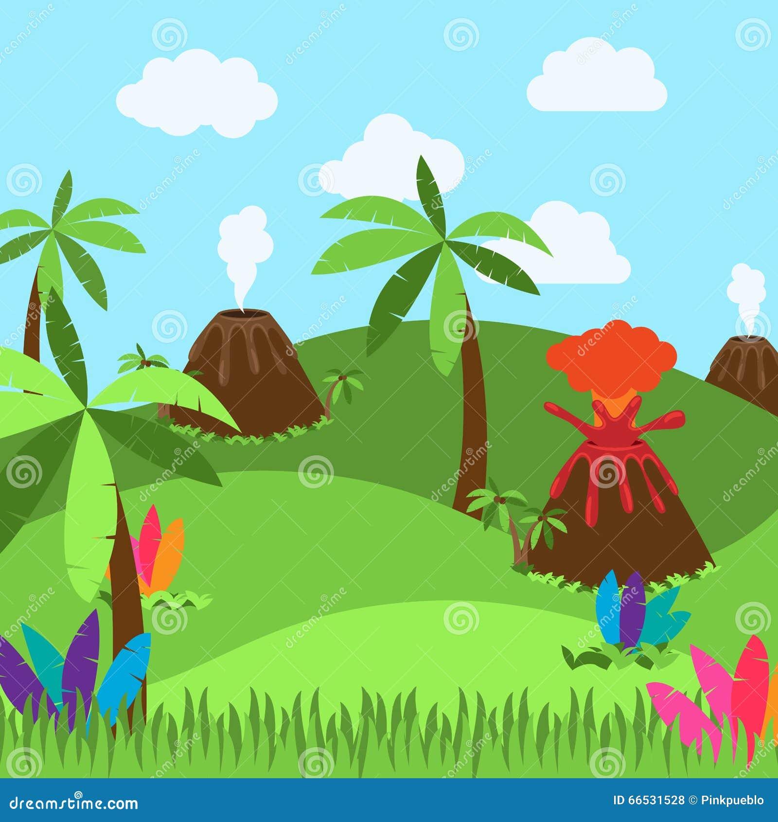 Dinosaur Or Prehistoric Background In Vector Format Stock ...