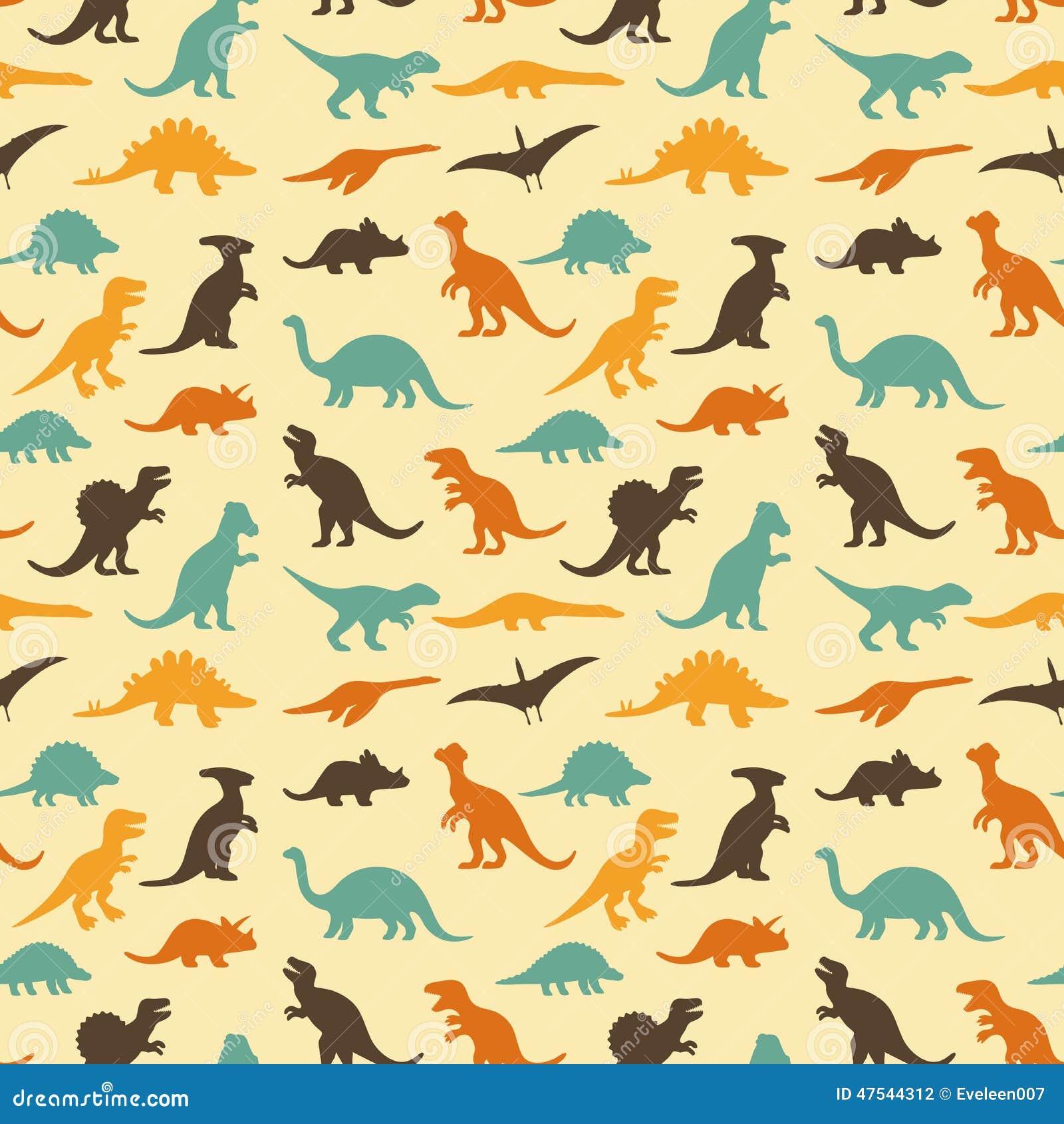 Dinosaur retro pattern