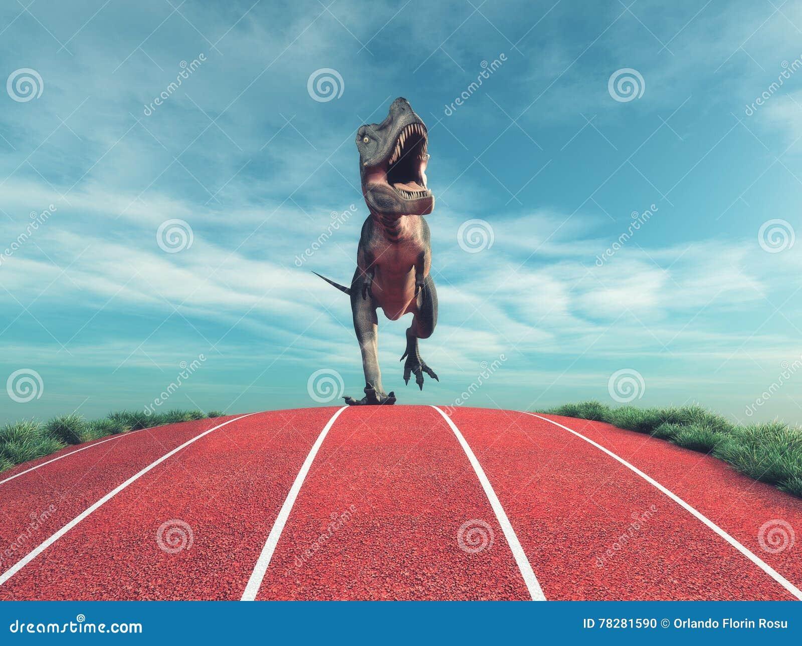 A dinosaur running