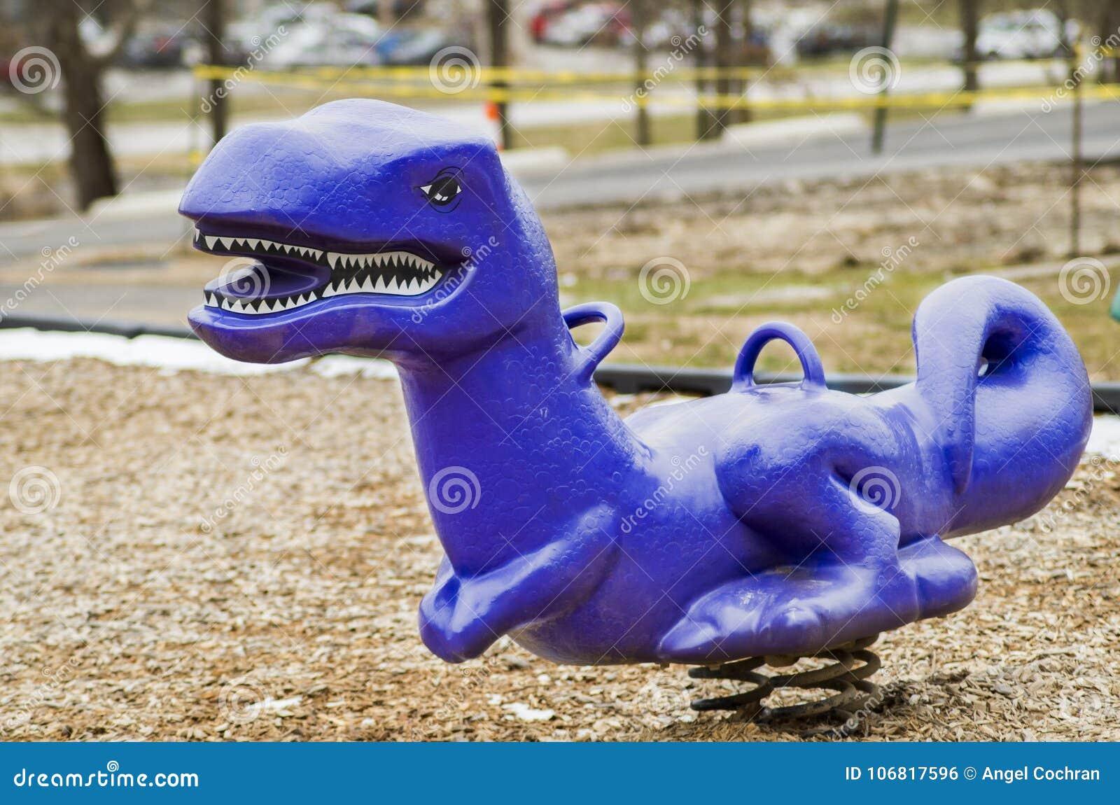 Dinosaur say Roar, at a childrens playground