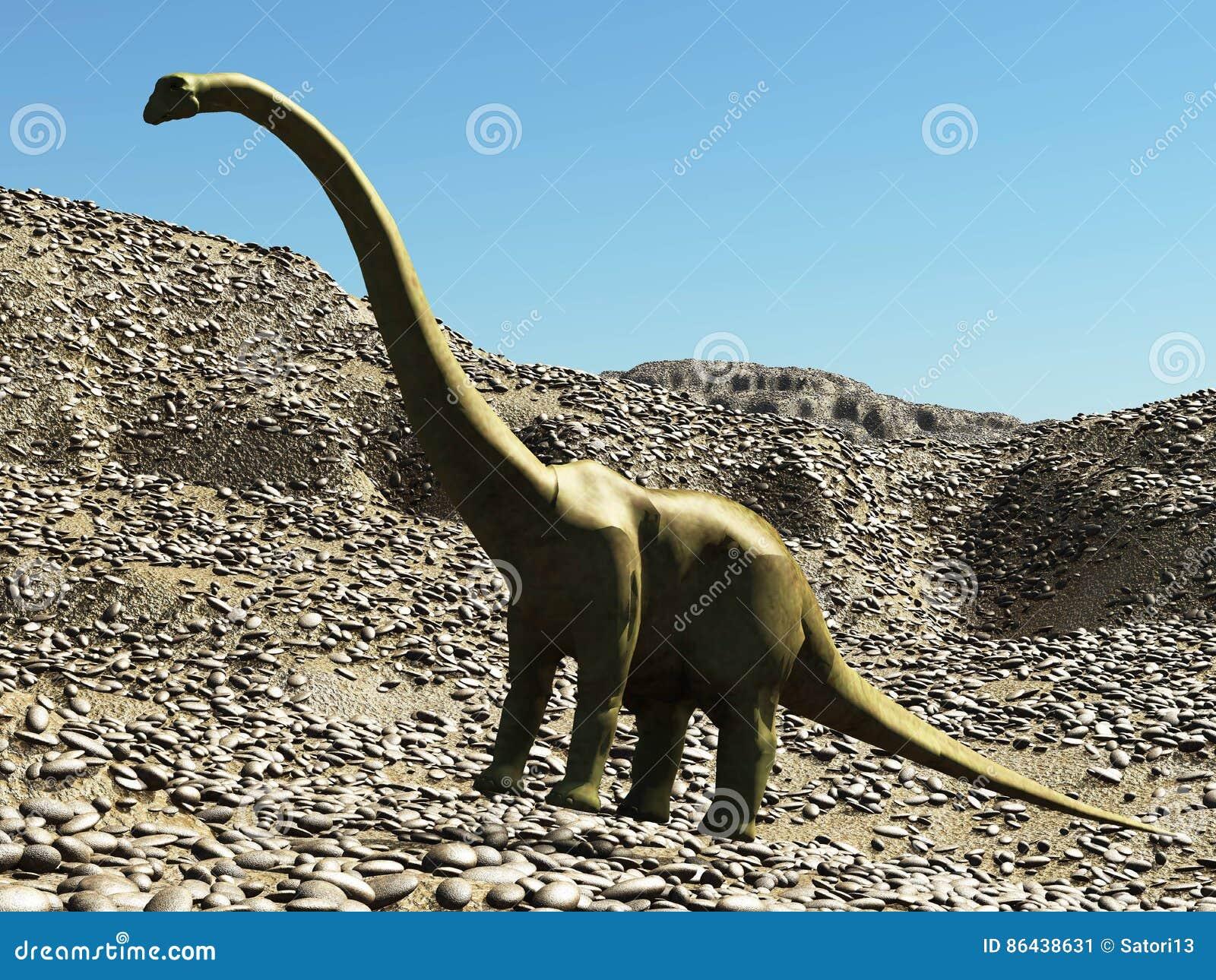Dinosaur sceny 3d Jurajski prehistoryczny rendering