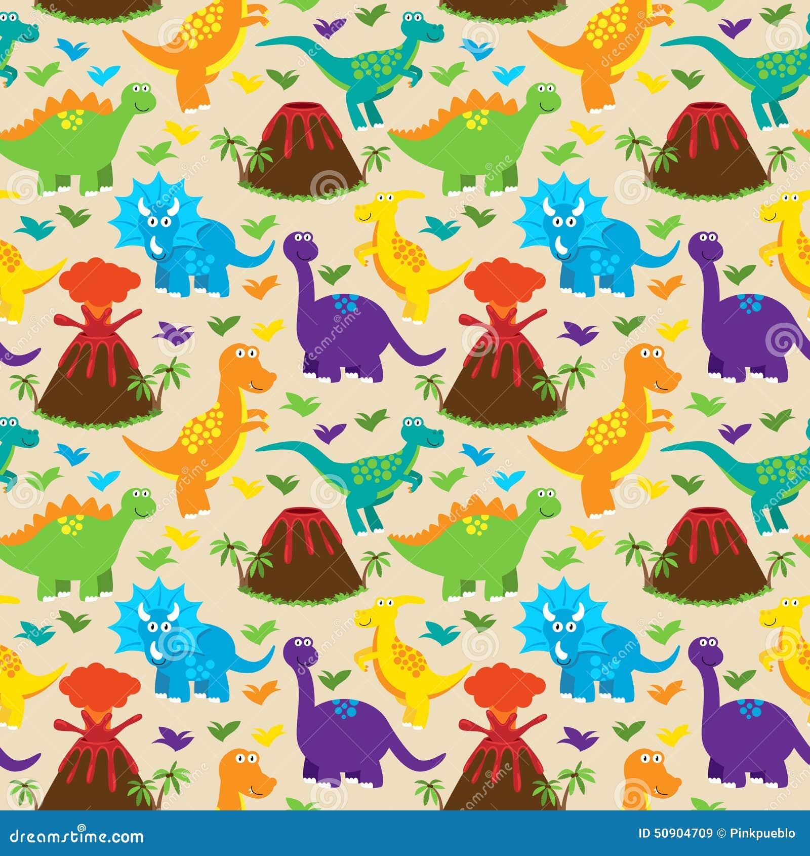 Dinosaur seamless tileable vector background pattern stock vector image 50904709 - Paperboy dinosaur wallpaper ...