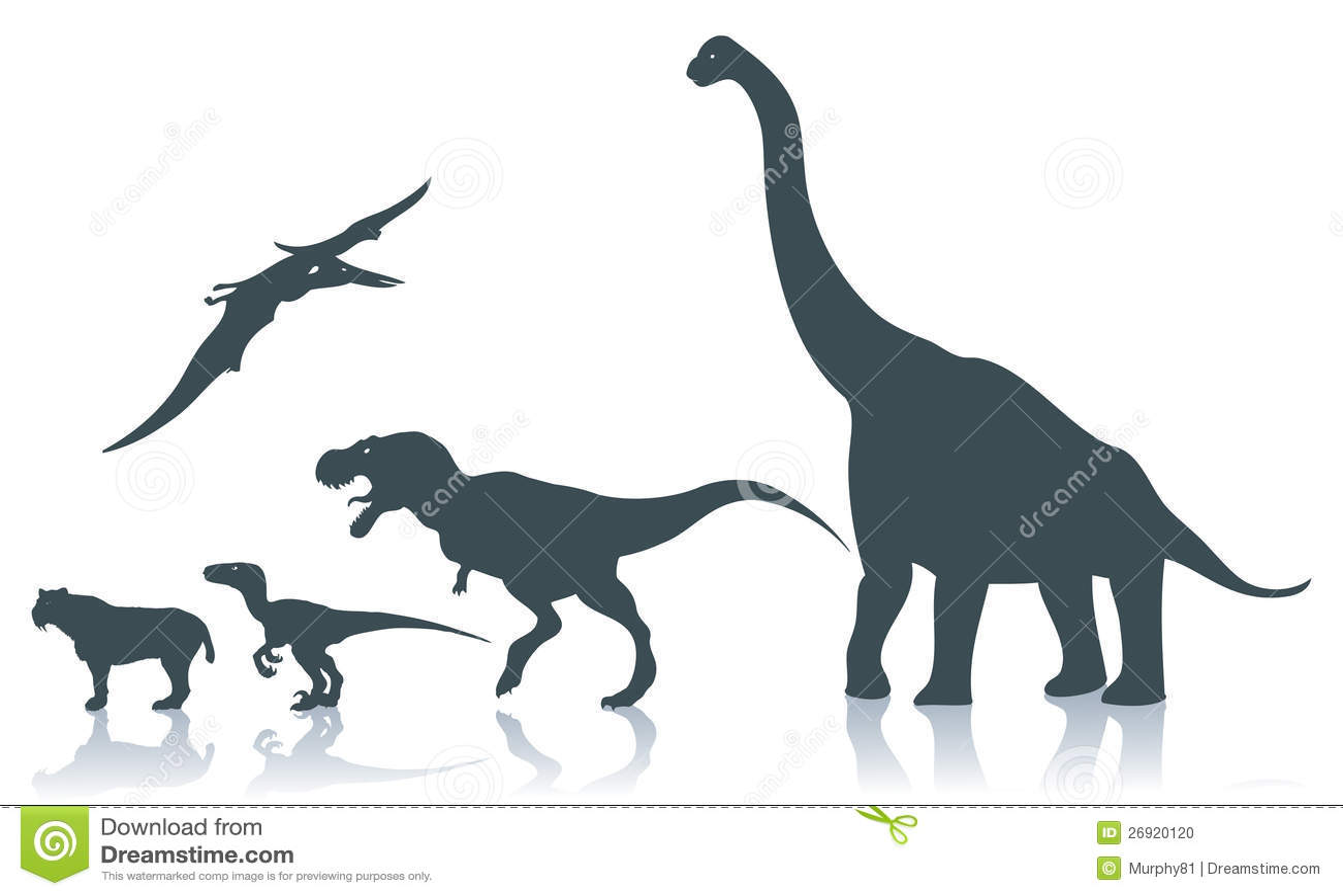 Dinosaur silhouettes S...