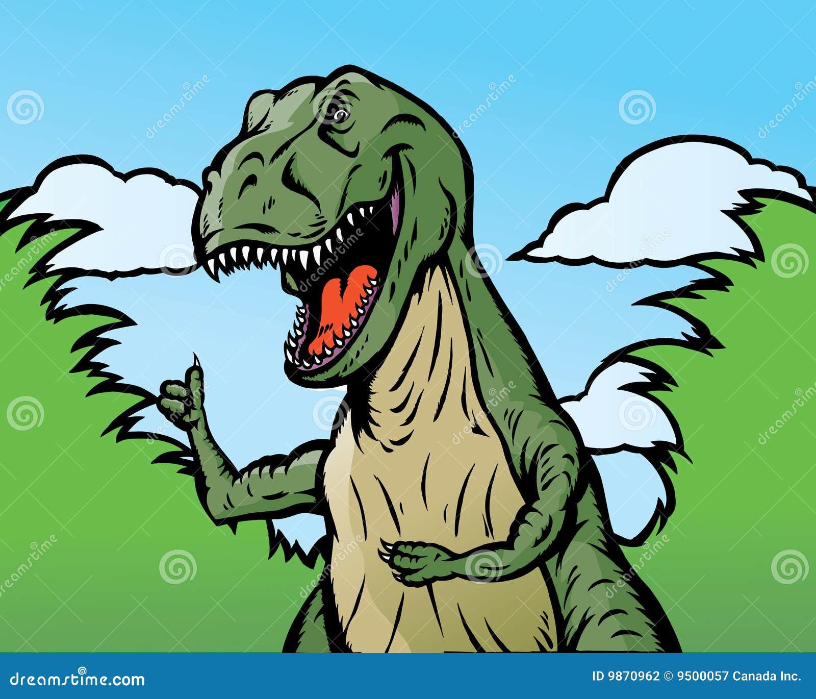 Dinosaur thumbs up
