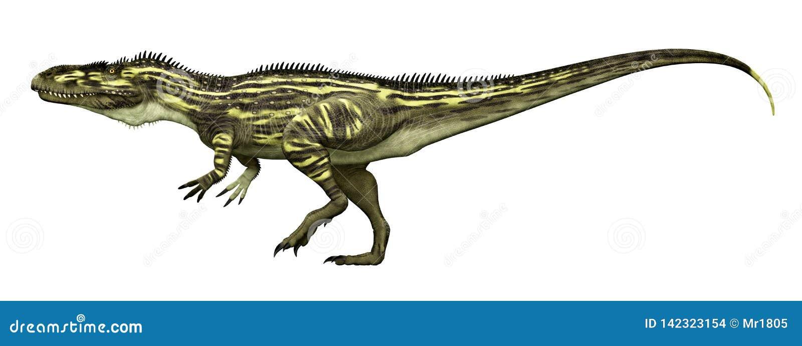 Dinosaur Torvosaurus isolated on white background