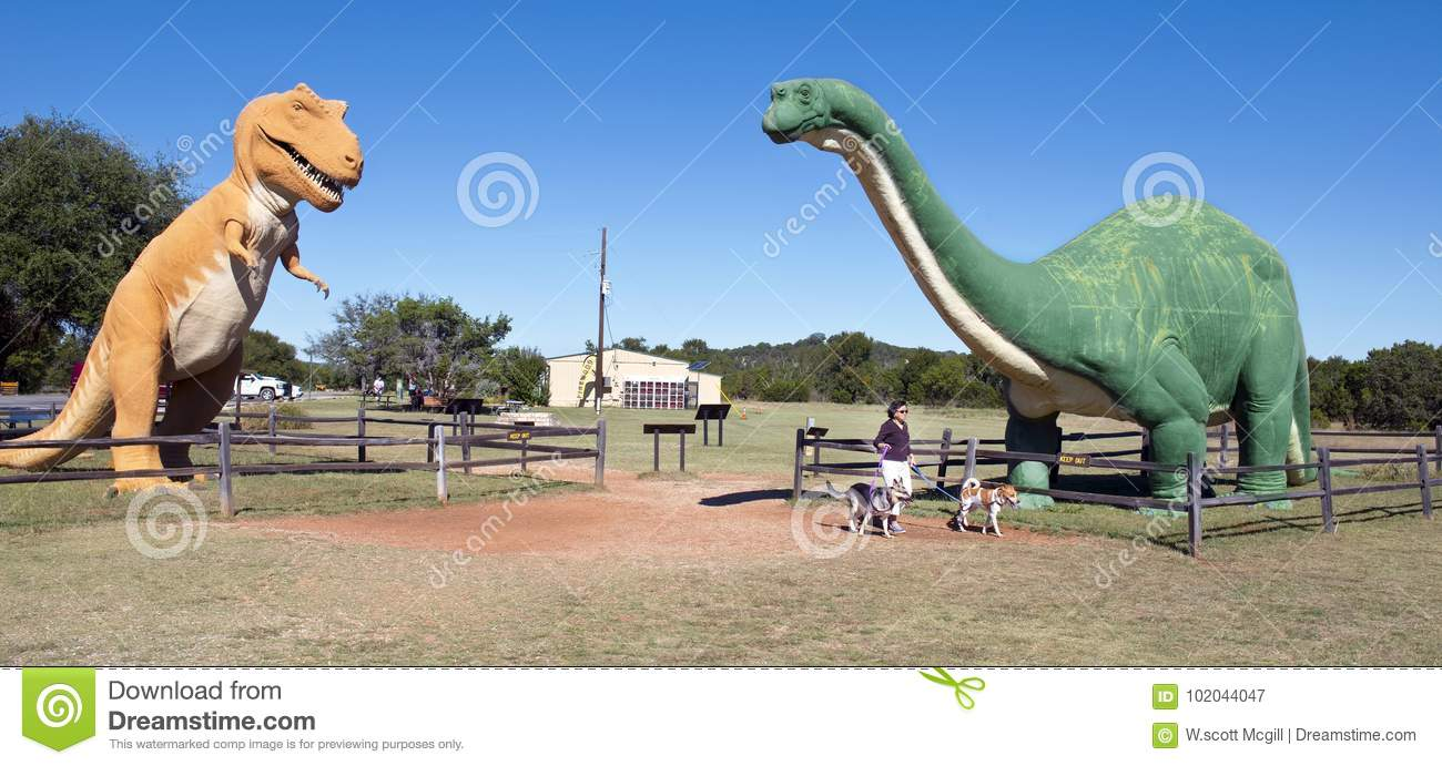Dinosaur Valley On The Paluxy River In Texas  Editorial