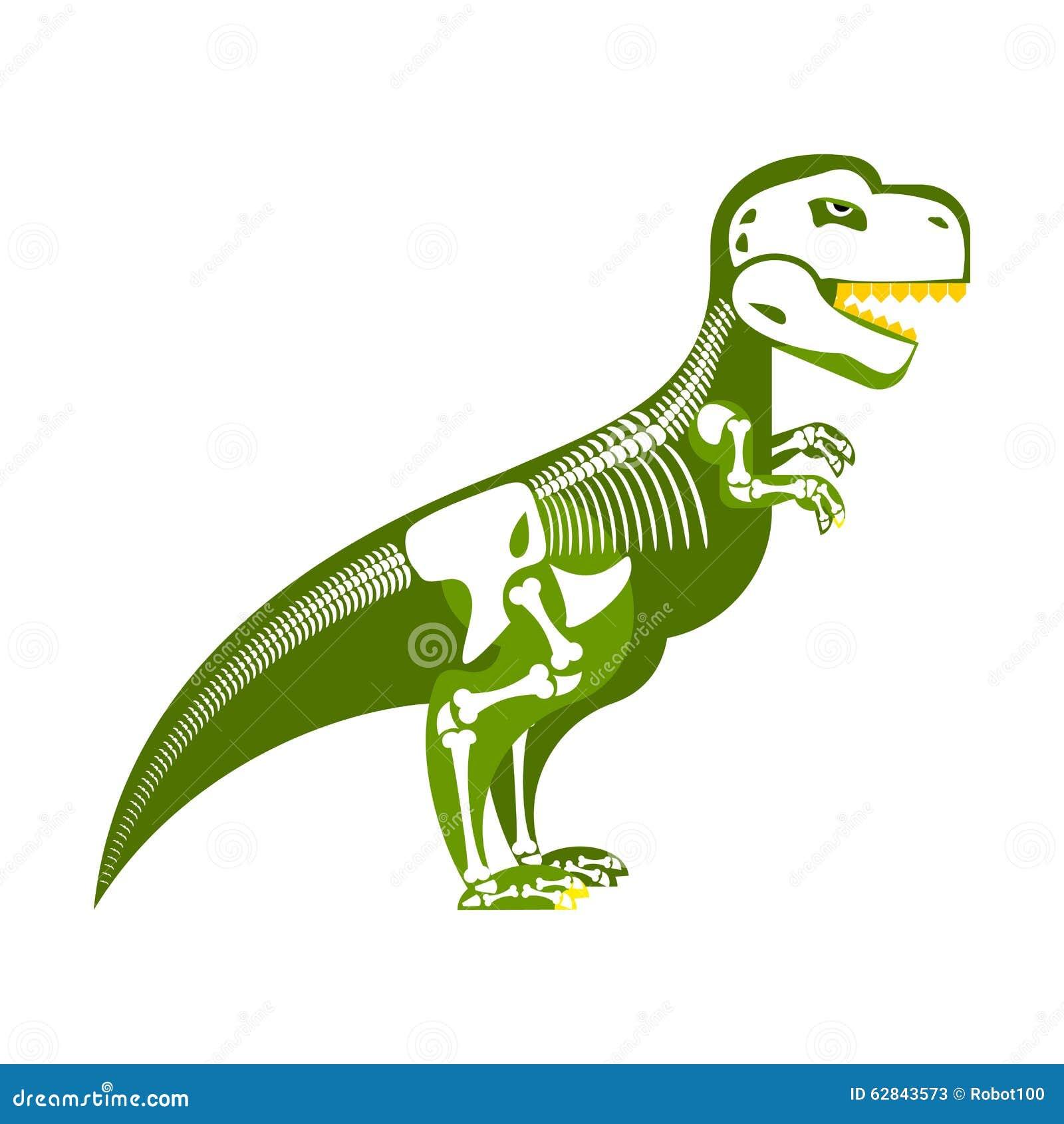 Dinosaura kościec Kość up na mój ciele T-Rex i czaszka