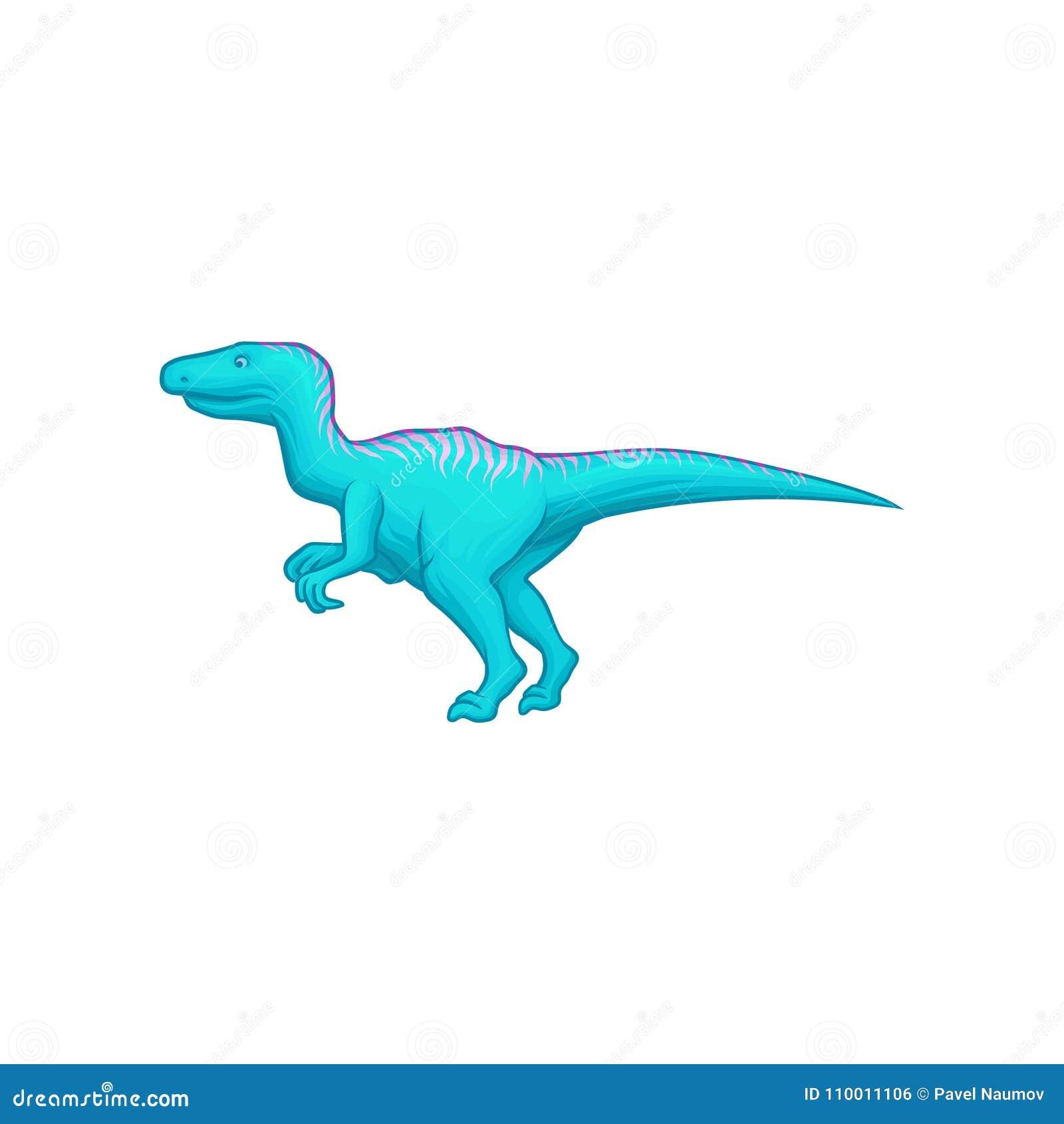 Dinosaure Bleu Avec La Longue Queue Les Membres De Derriere