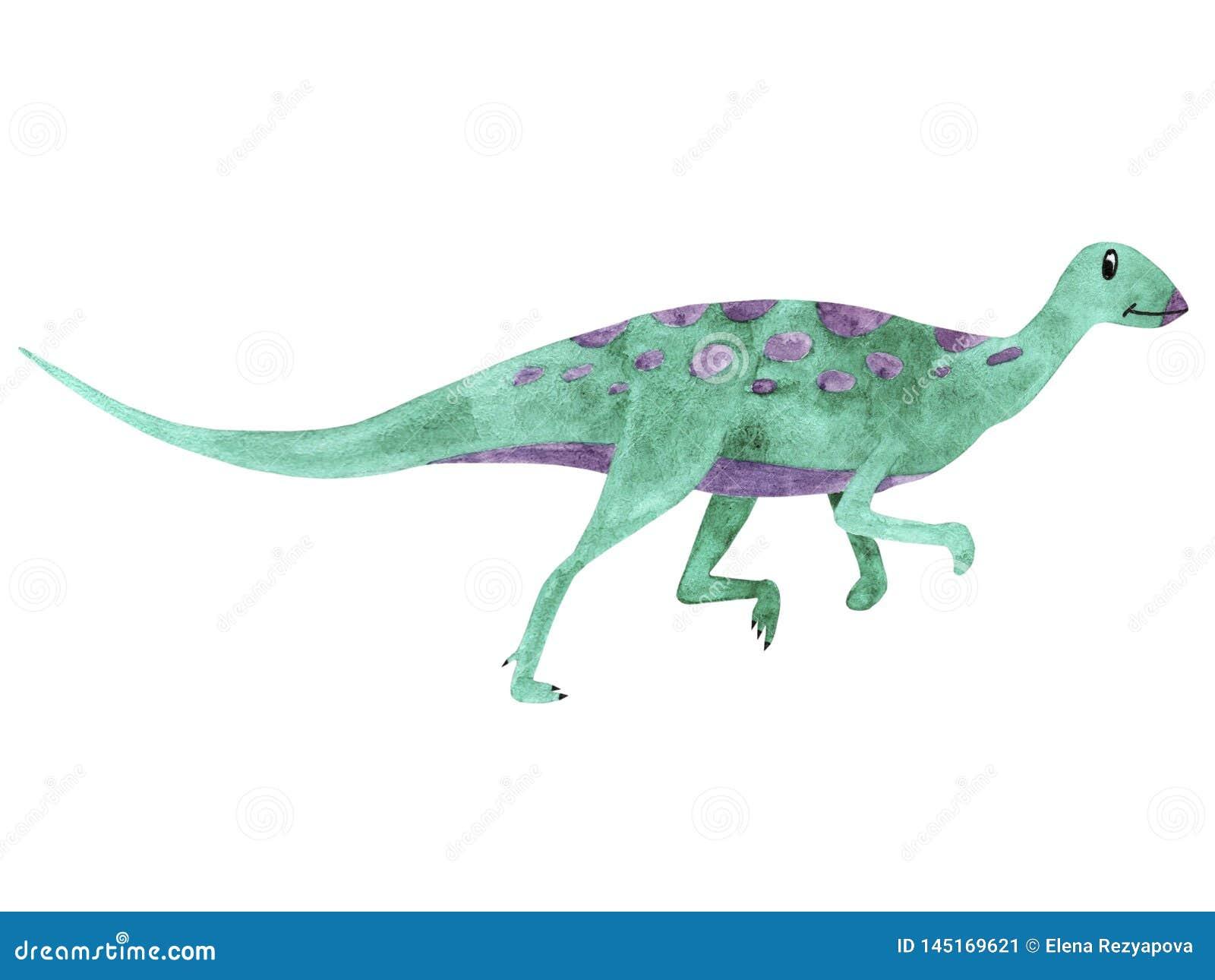 Dinosaure d aquarelle Illustration Qantassaurus pour des enfants