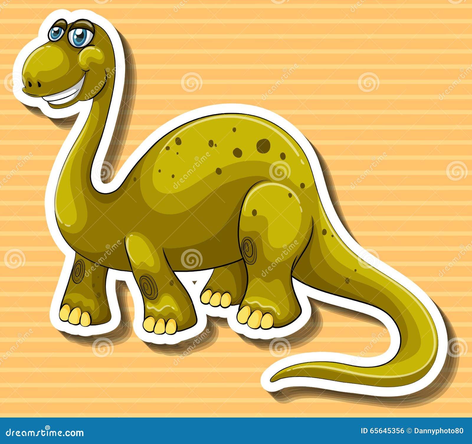 Dinosaure de Brown avec le visage heureux