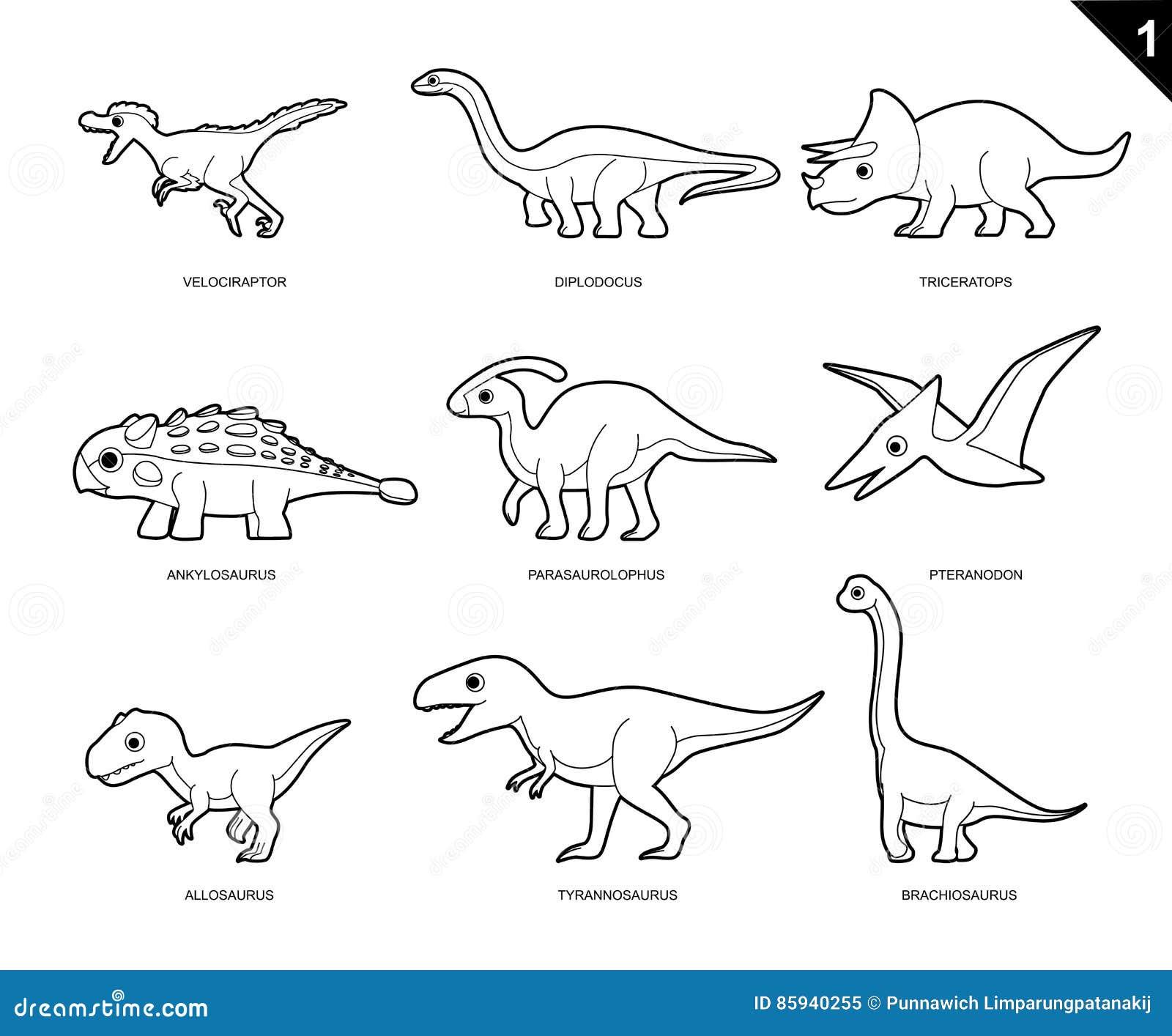 Fantastisch Malbuch Dinosaurier Bilder - Druckbare Malvorlagen ...