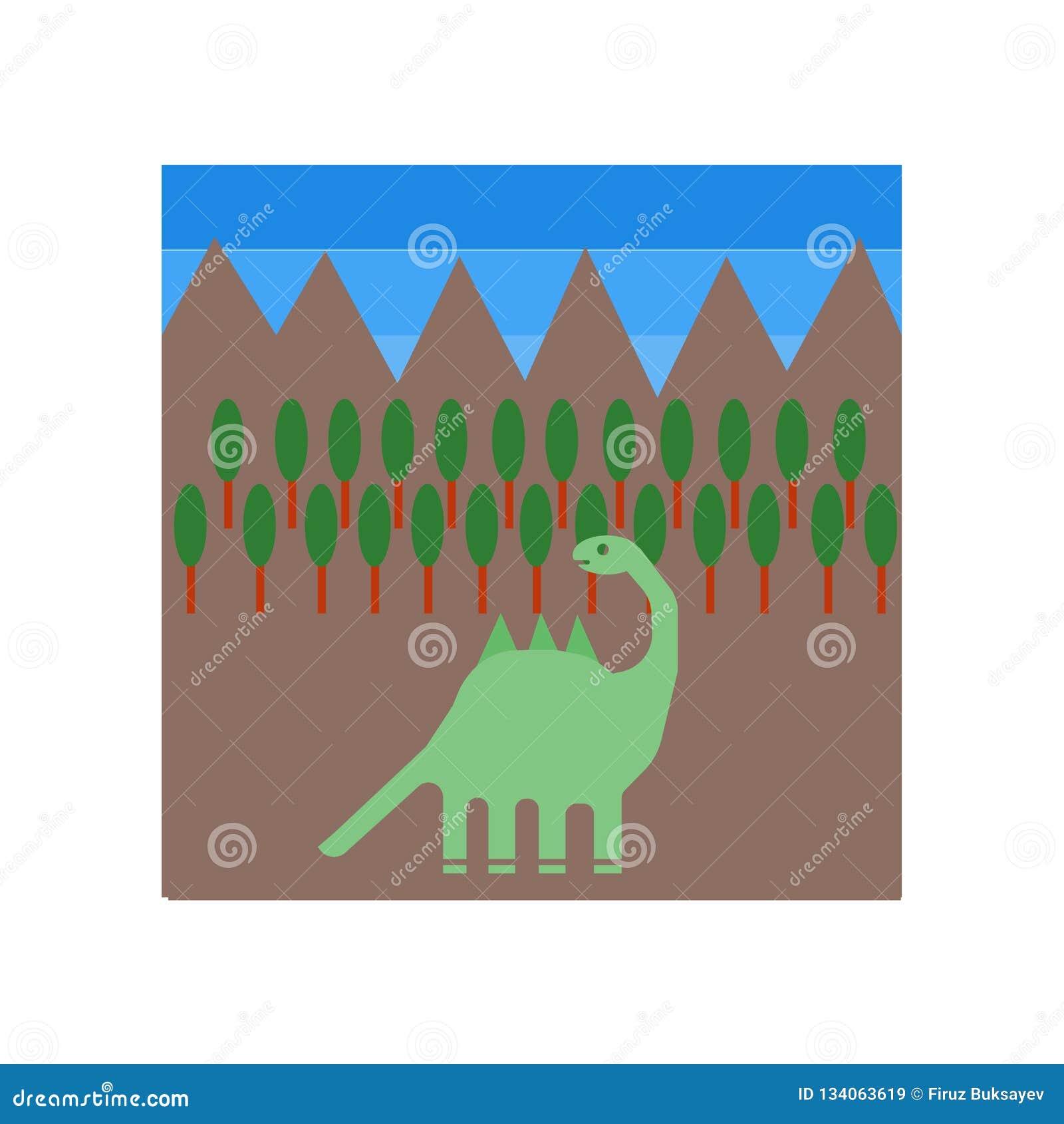 Dinosaurierikonenvektor lokalisiert auf weißem Hintergrund, Dinosaurierzeichen, historische Steinzeitaltersymbole